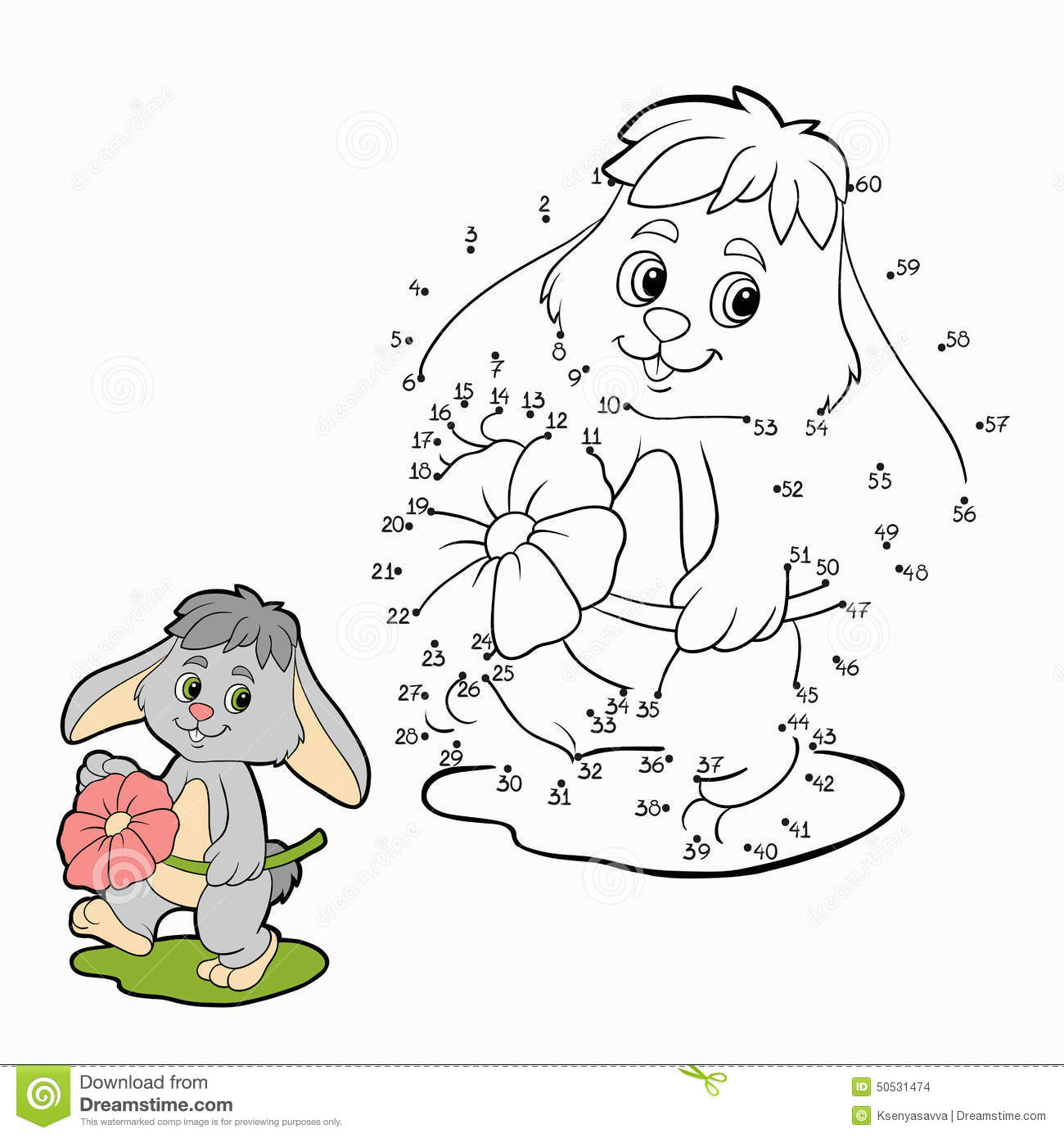 Numbers Game  Rabbit  Stock Vector  Illustration Of