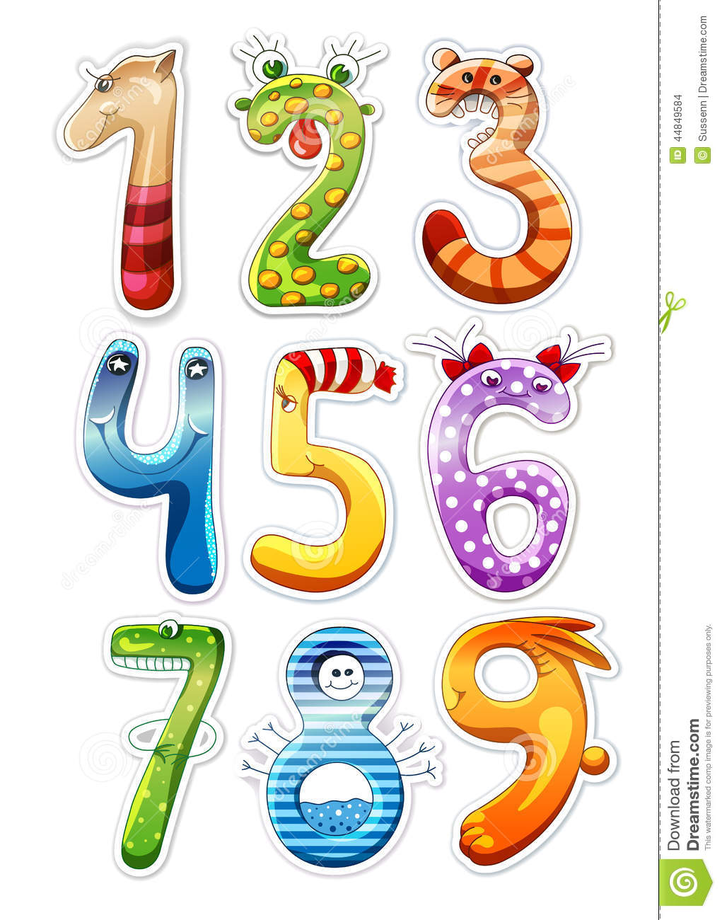 Numbers For Kids Stock...