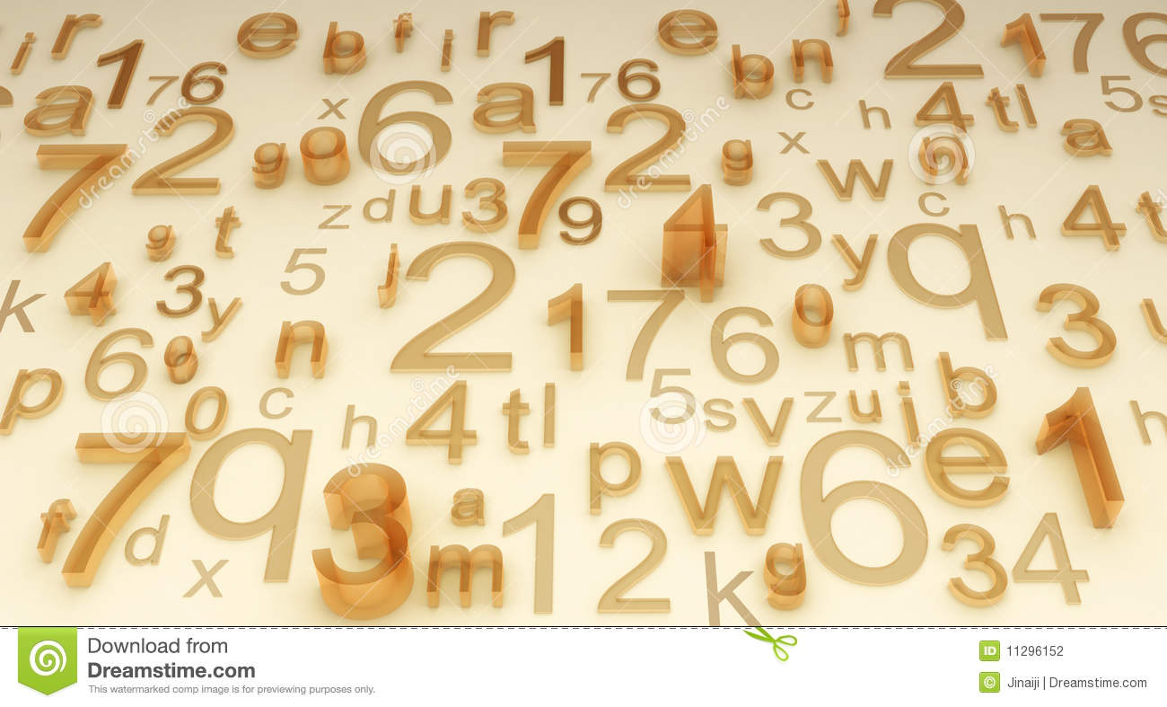 Numbers And Letters Stock Photography