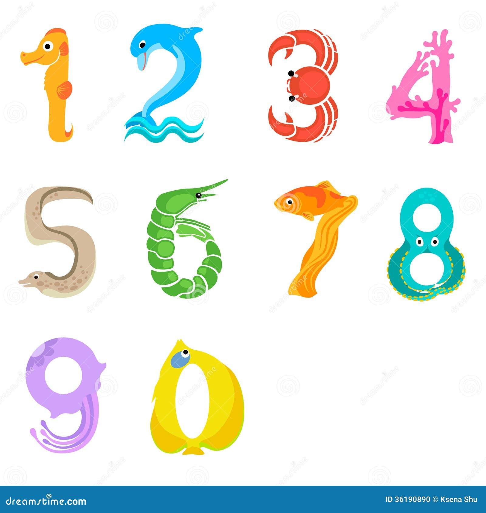numbers like sea inhabitants stock photo image 36190890 octopus vector icon octopus vector art
