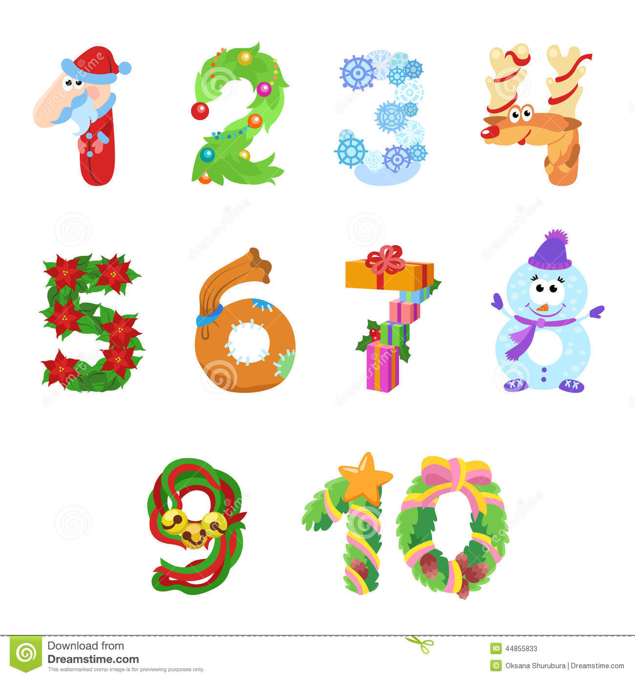 christmas numbers clipart free - photo #11