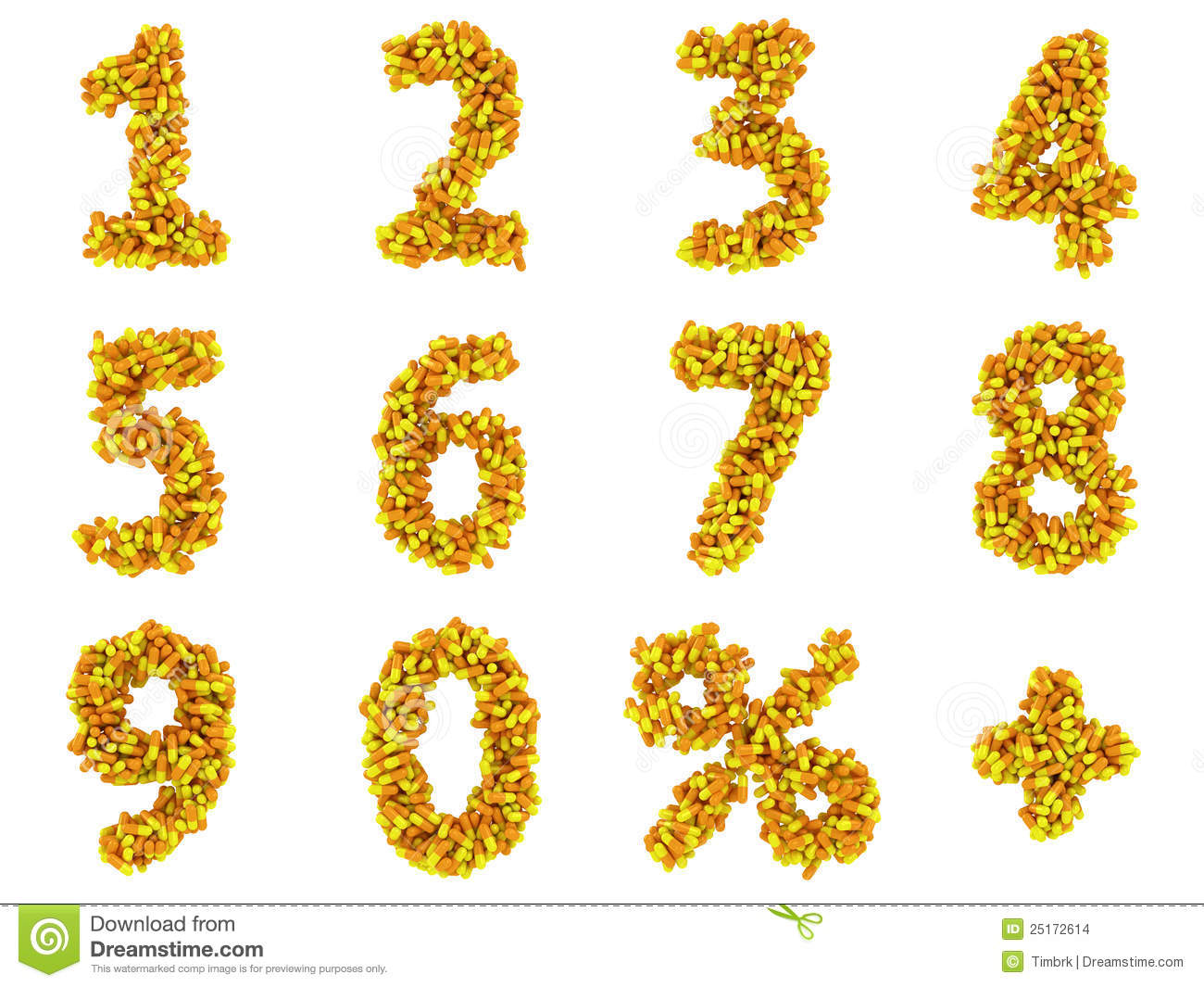 Numbers And Math Symbols Stock Illustration Illustration Of Capsule