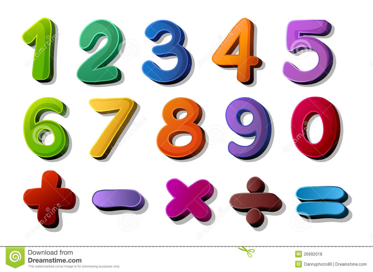 Royalty Free Stock Photos Numbers Maths Symbols Image26992018 on Collage Tree