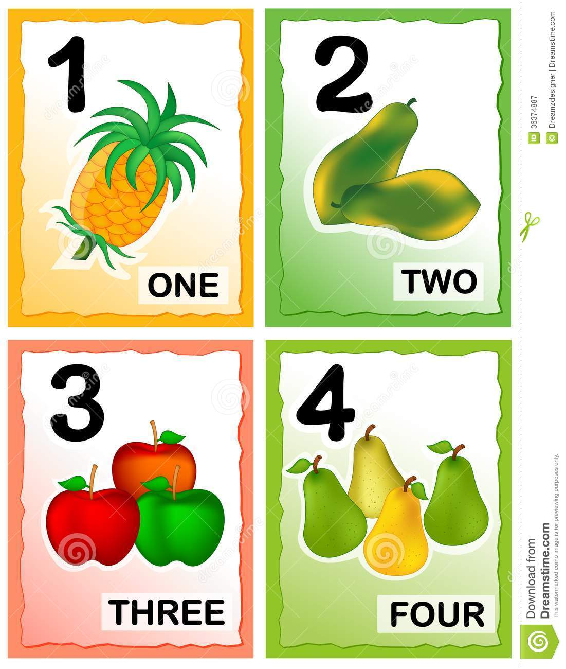 Printable kids number learning cards with eye catching colorful ...