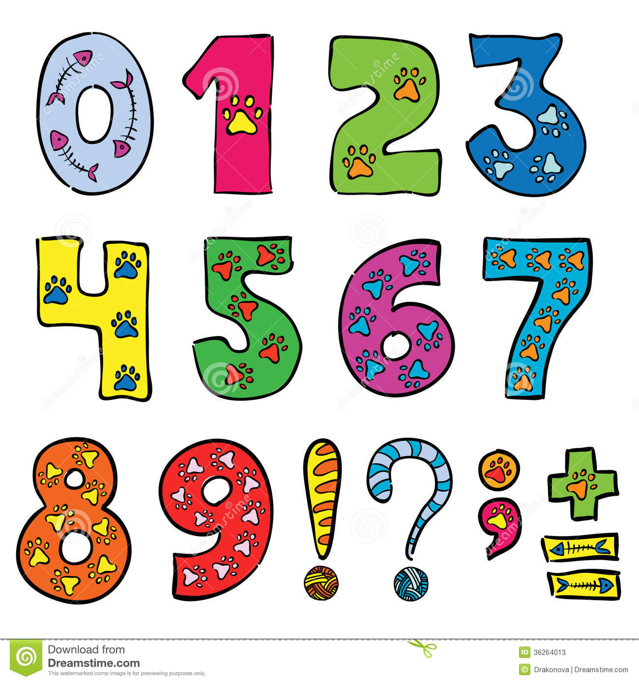 Numbers And Signs Stock Vector Illustration Of Font 36264013
