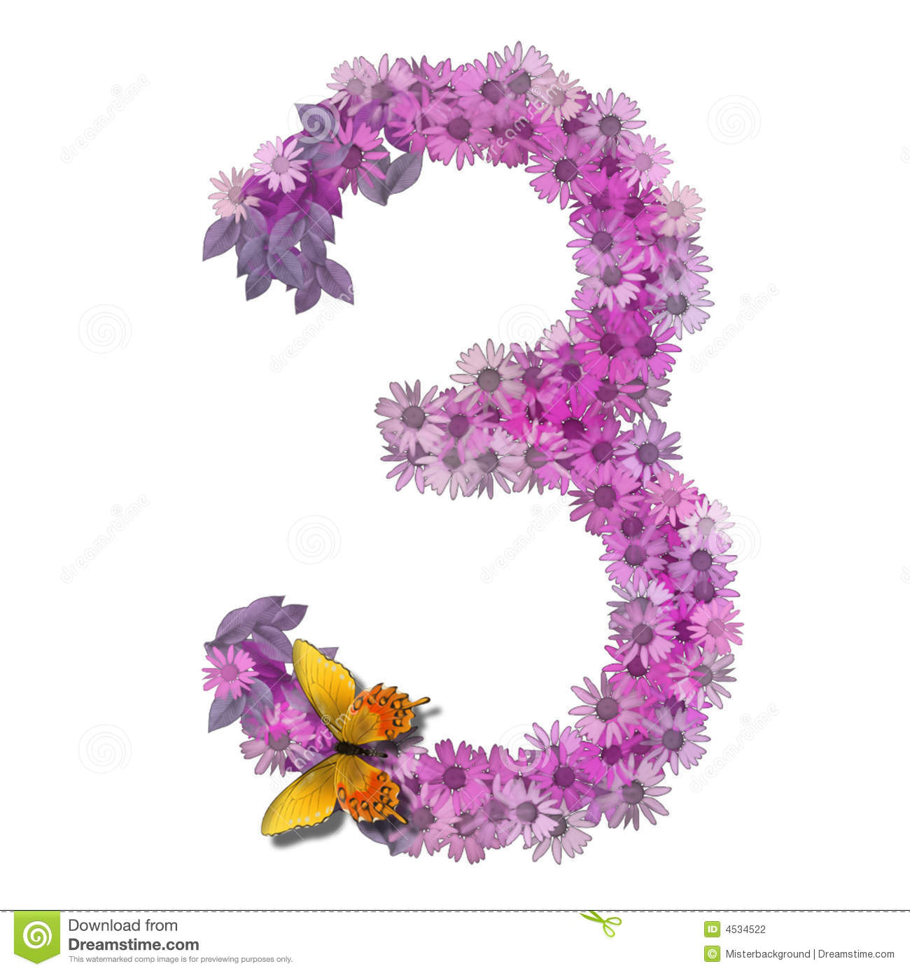 Numeral Or Number 3 Stock Photography Image 4534522