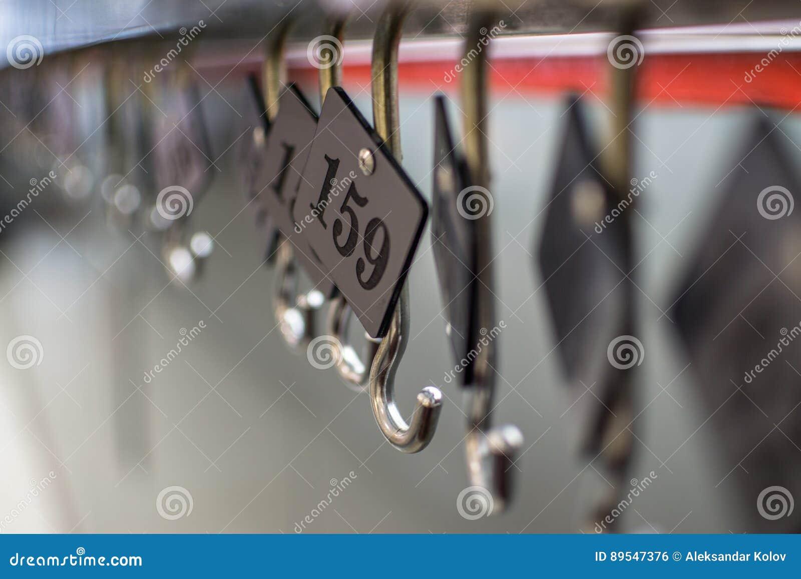 Numeri Per Guardaroba.Numeri Del Guardaroba Fotografia Stock Immagine Di Numerato
