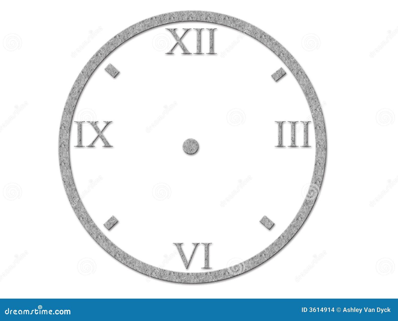 Numeri romani sul fronte di orologio illustrazione di for Orologio numeri romani