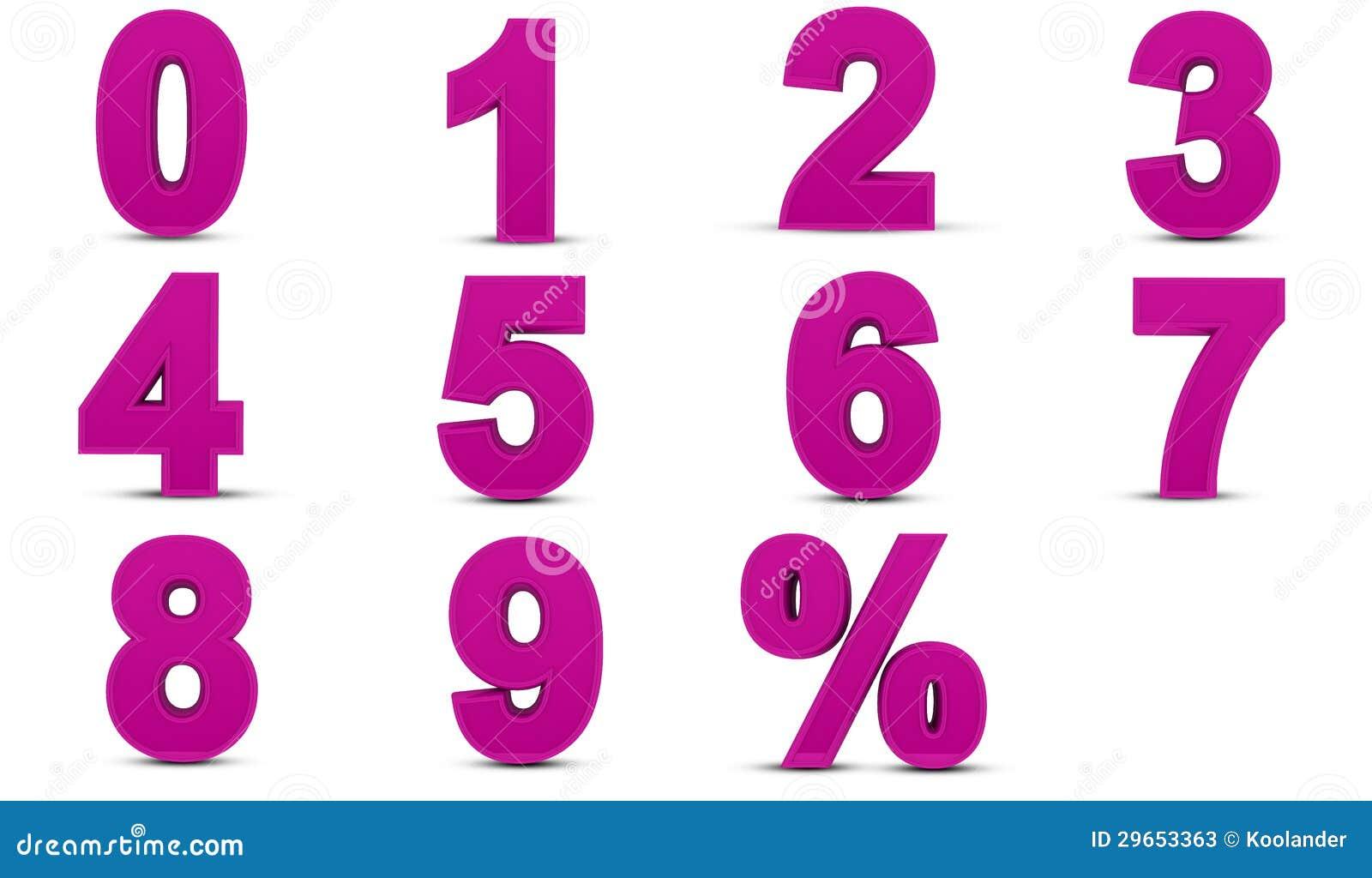 Numeri tridimensionali illustrazione di stock for Immagini tridimensionali gratis