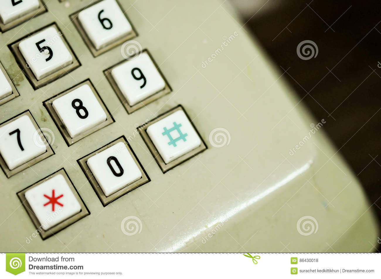 Numeric Pad Of A Old Telephone Home Editorial Stock Photo Image Of Call Numeric 86430018