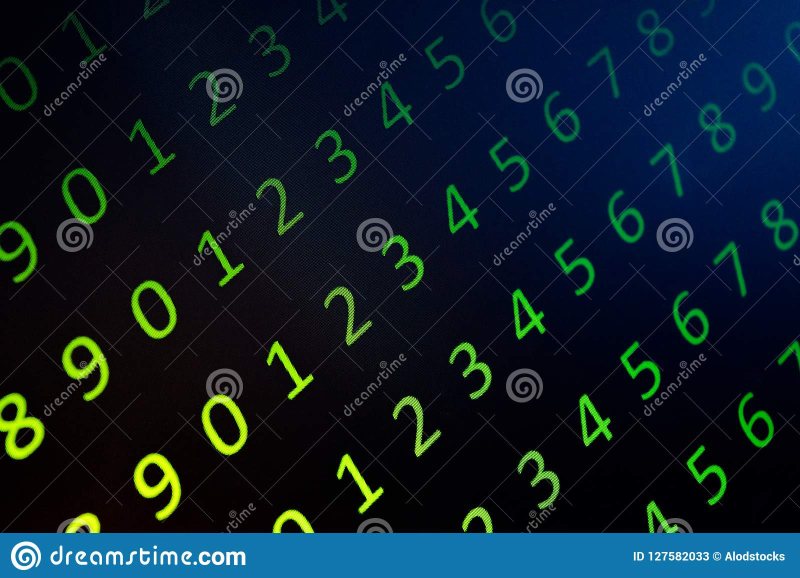 Numerical continuous, abctract data in binary code, give technology felling.