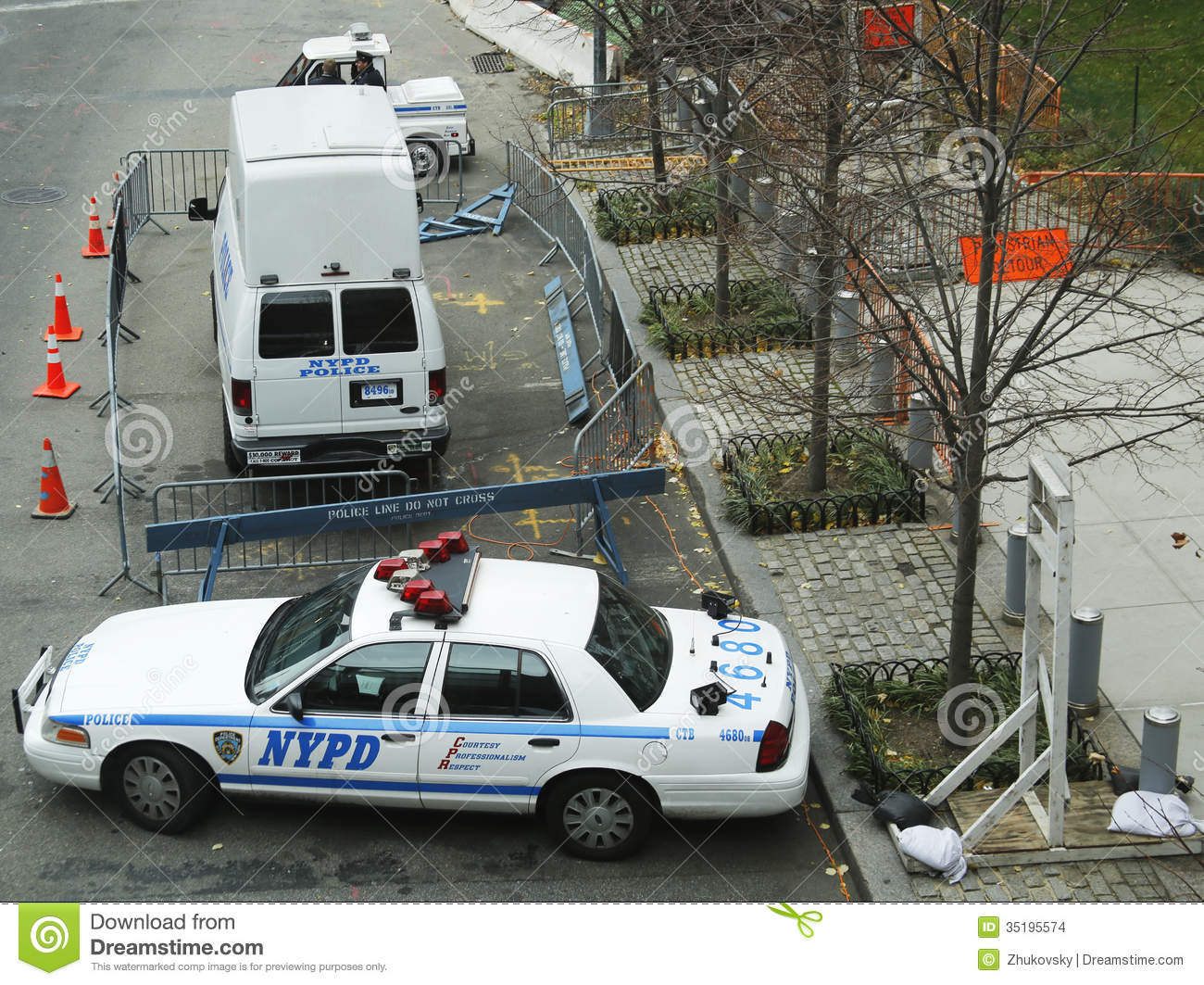 numerous nypd cars providing security in world trade center area of manhattan editorial stock. Black Bedroom Furniture Sets. Home Design Ideas