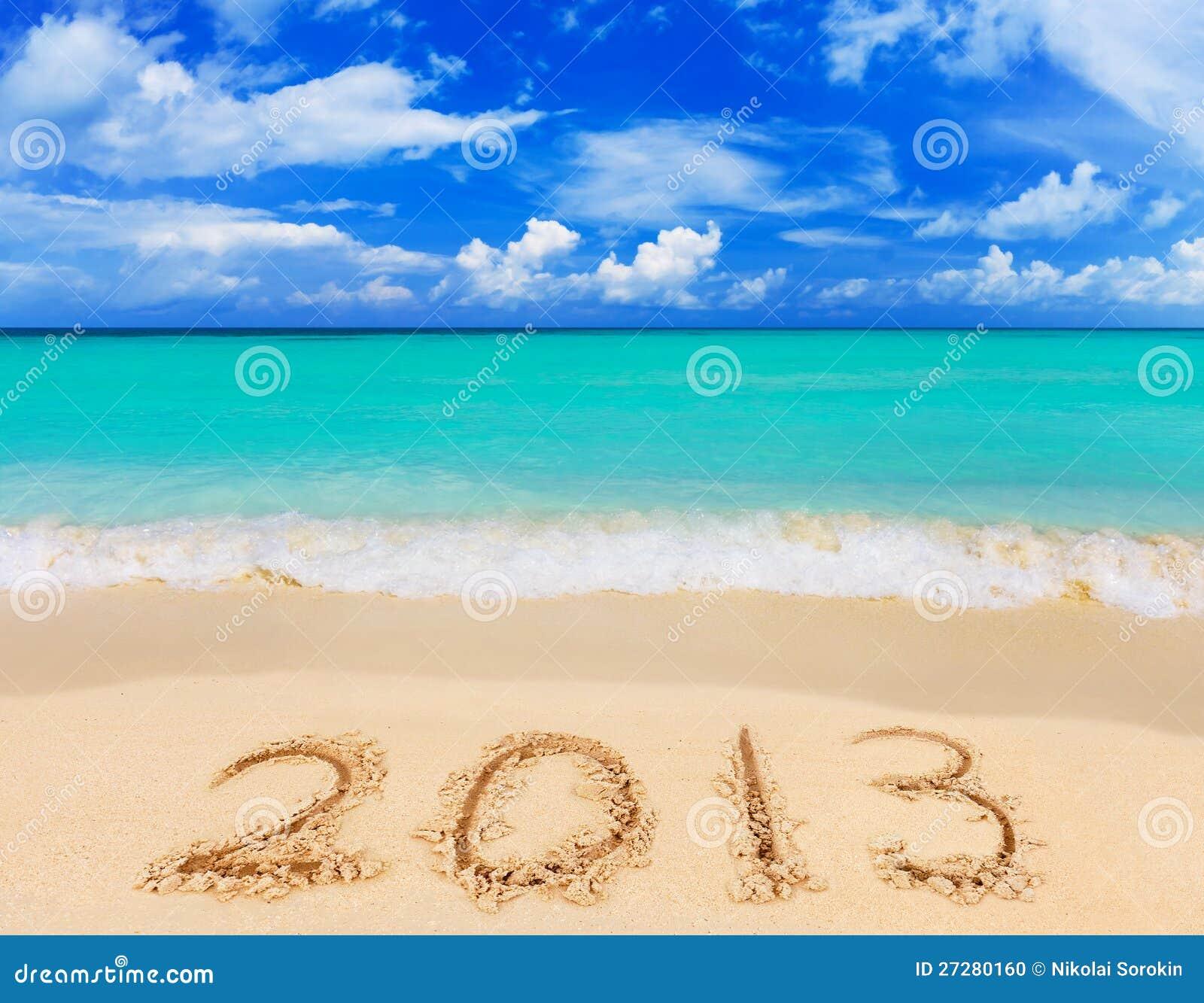 Nummer 2013 på strand
