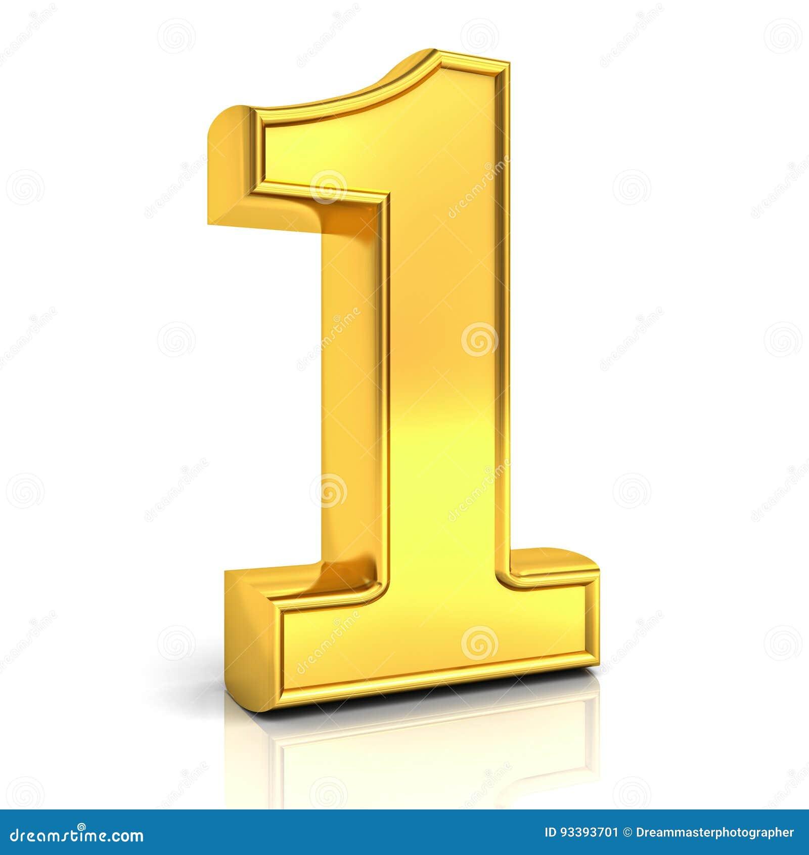 Nummer Eins Des Gold 20D, 20 Lokalisiert über Weiß Stock Abbildung ...