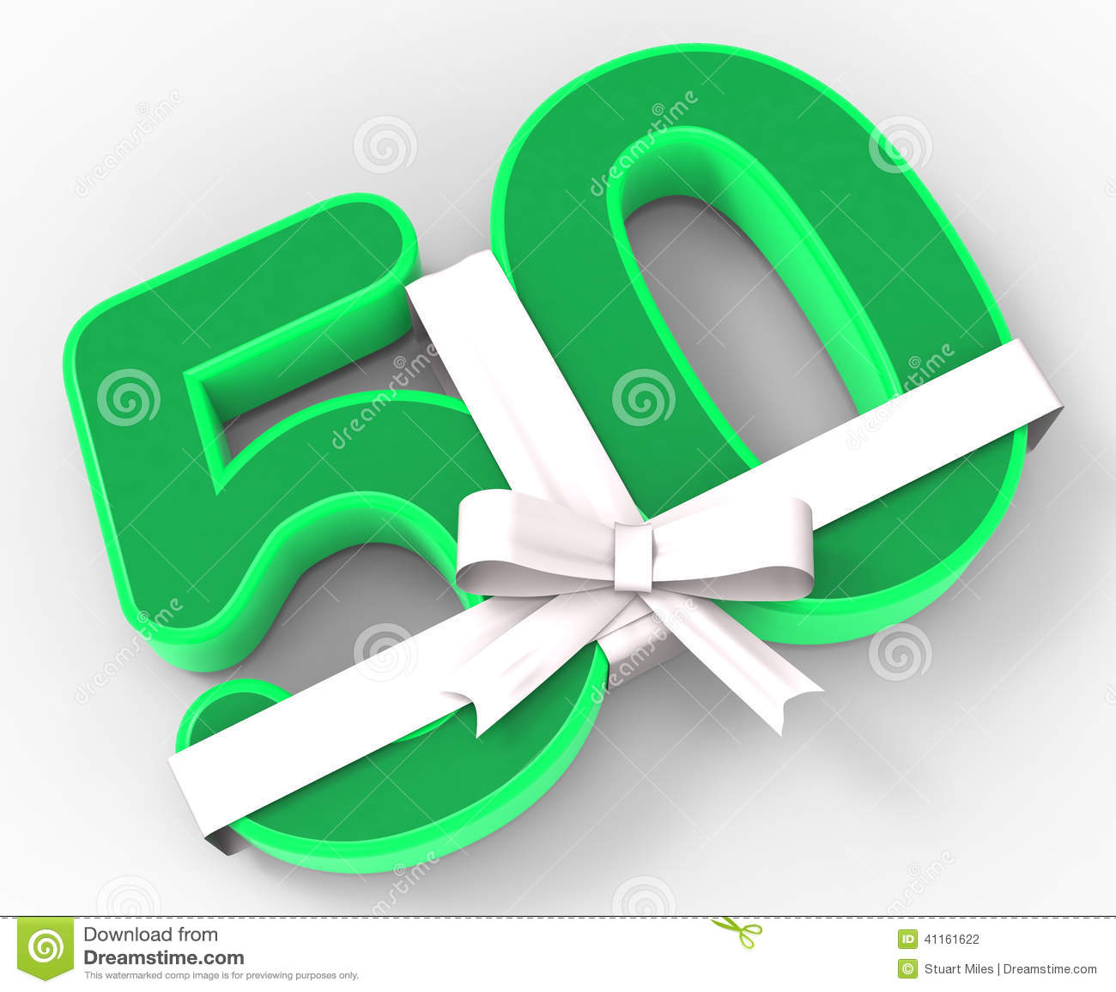 Nummer femtio med bandet visar femtionde födelsedagberöm