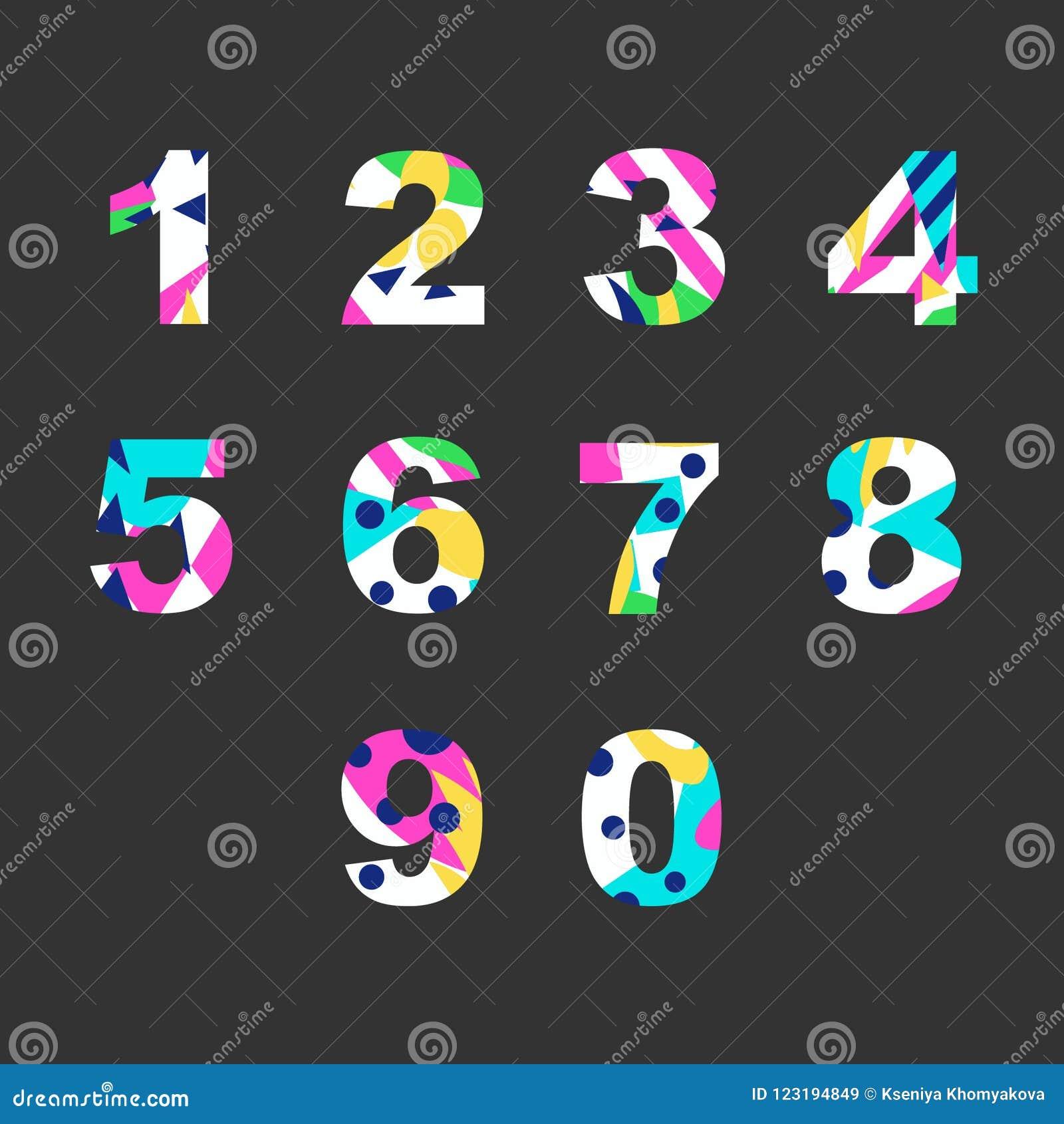 Nummer med den abstrakta påfyllningen