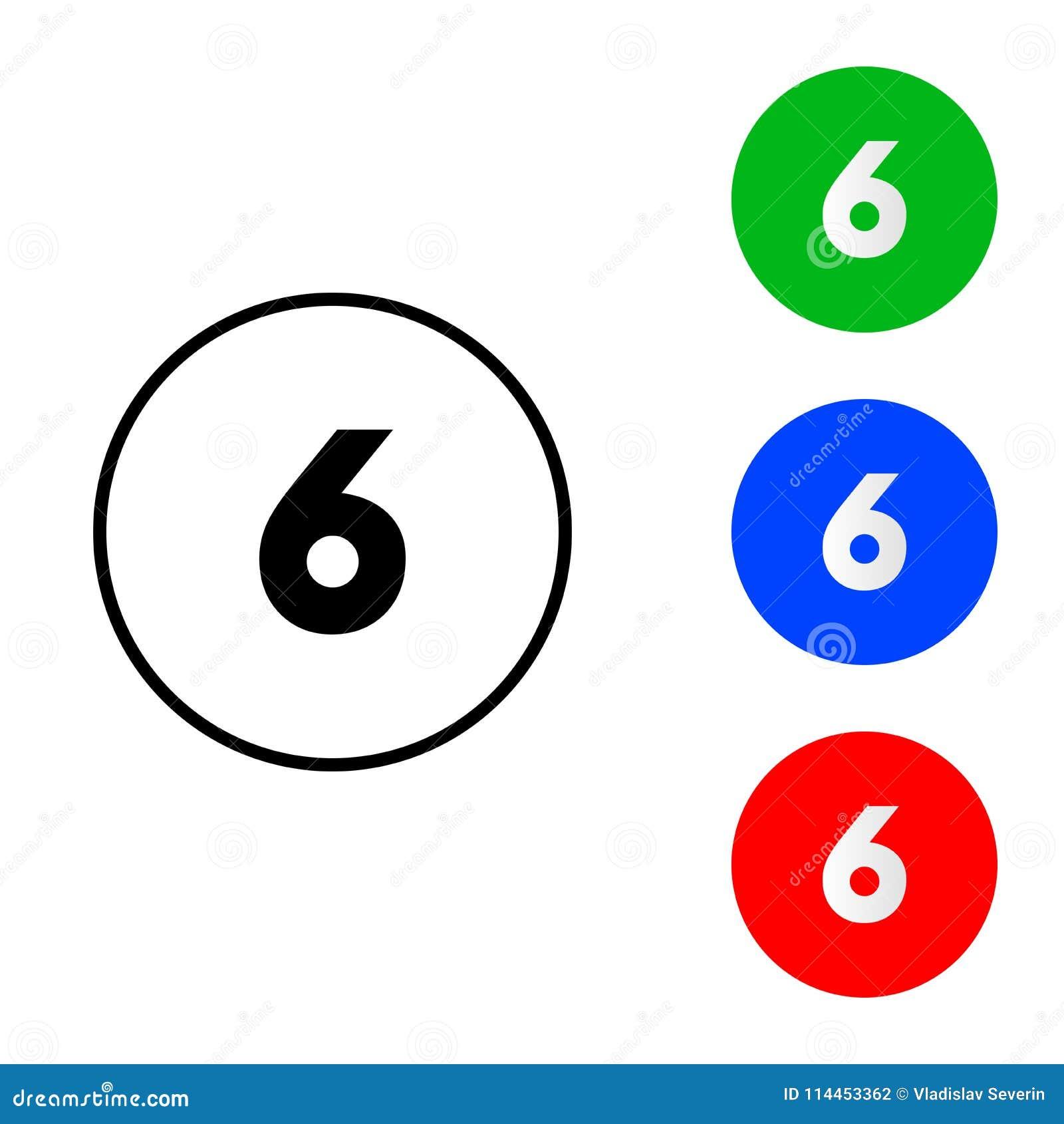 Nummer 6 pictogram