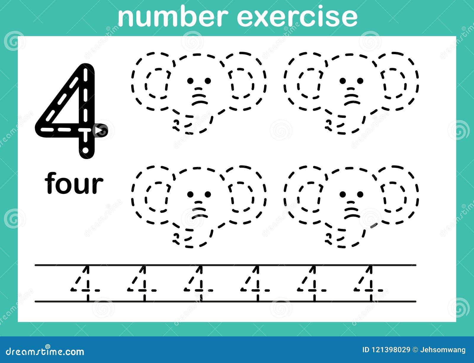 Nummer vier oefening