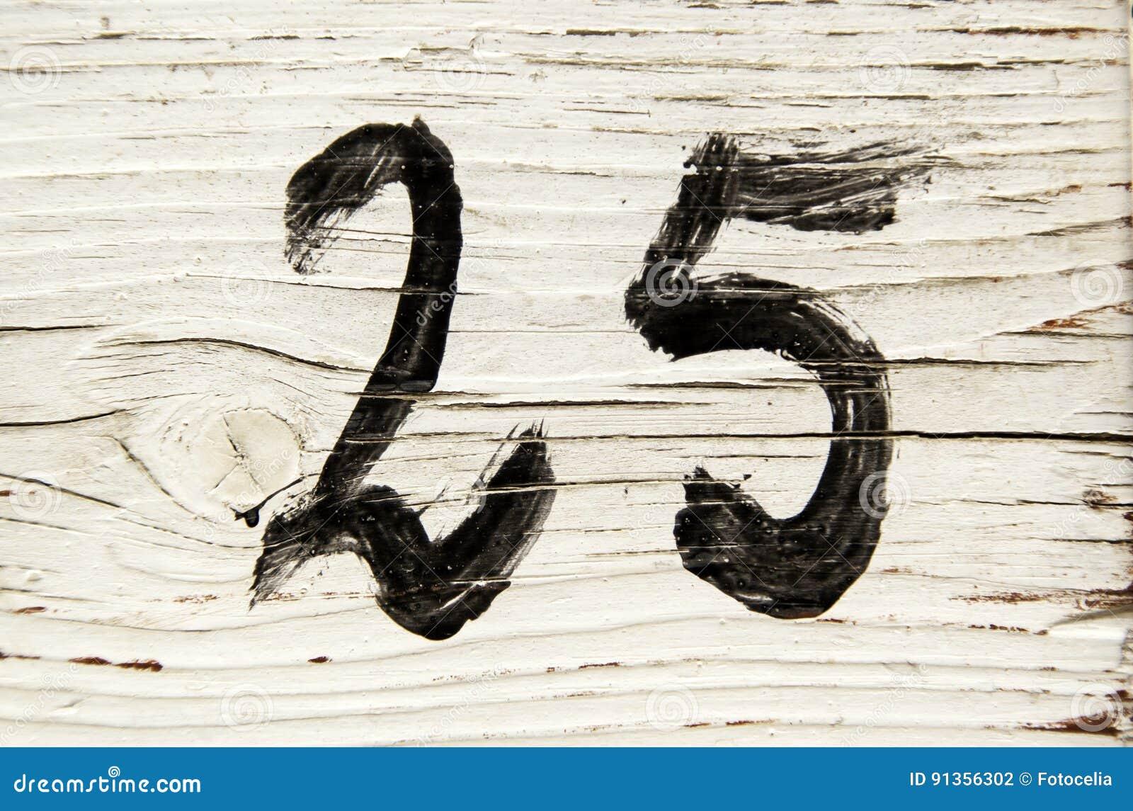 Nummer vijfentwintig in hout