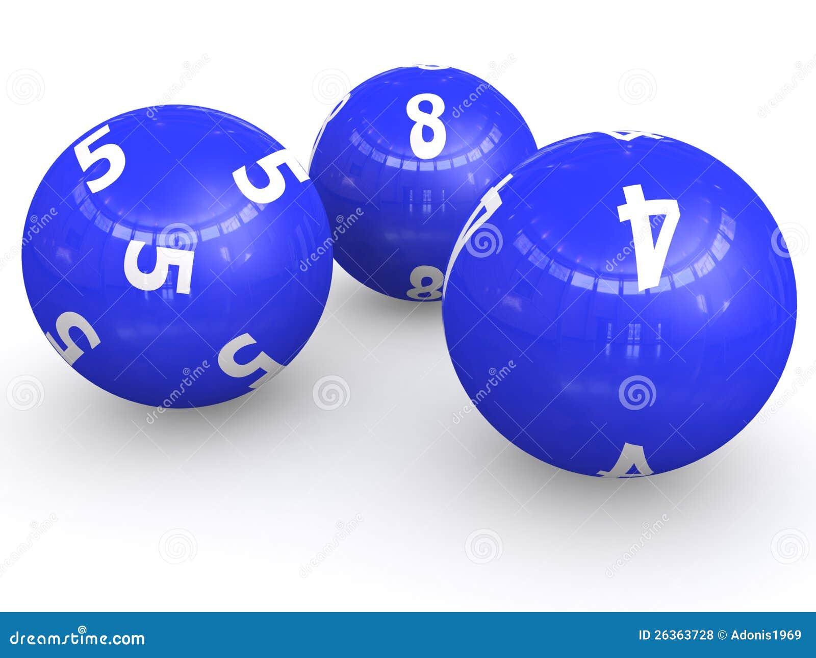Nummerierte Lotteriekugeln