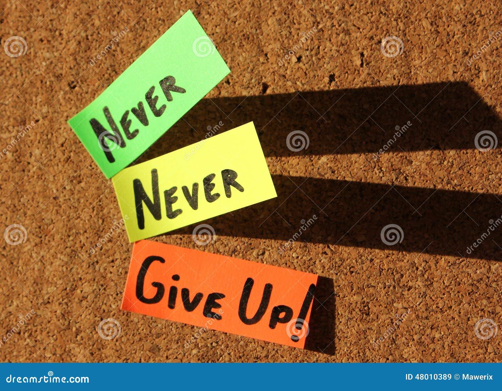 ¡Nunca dé para arriba!