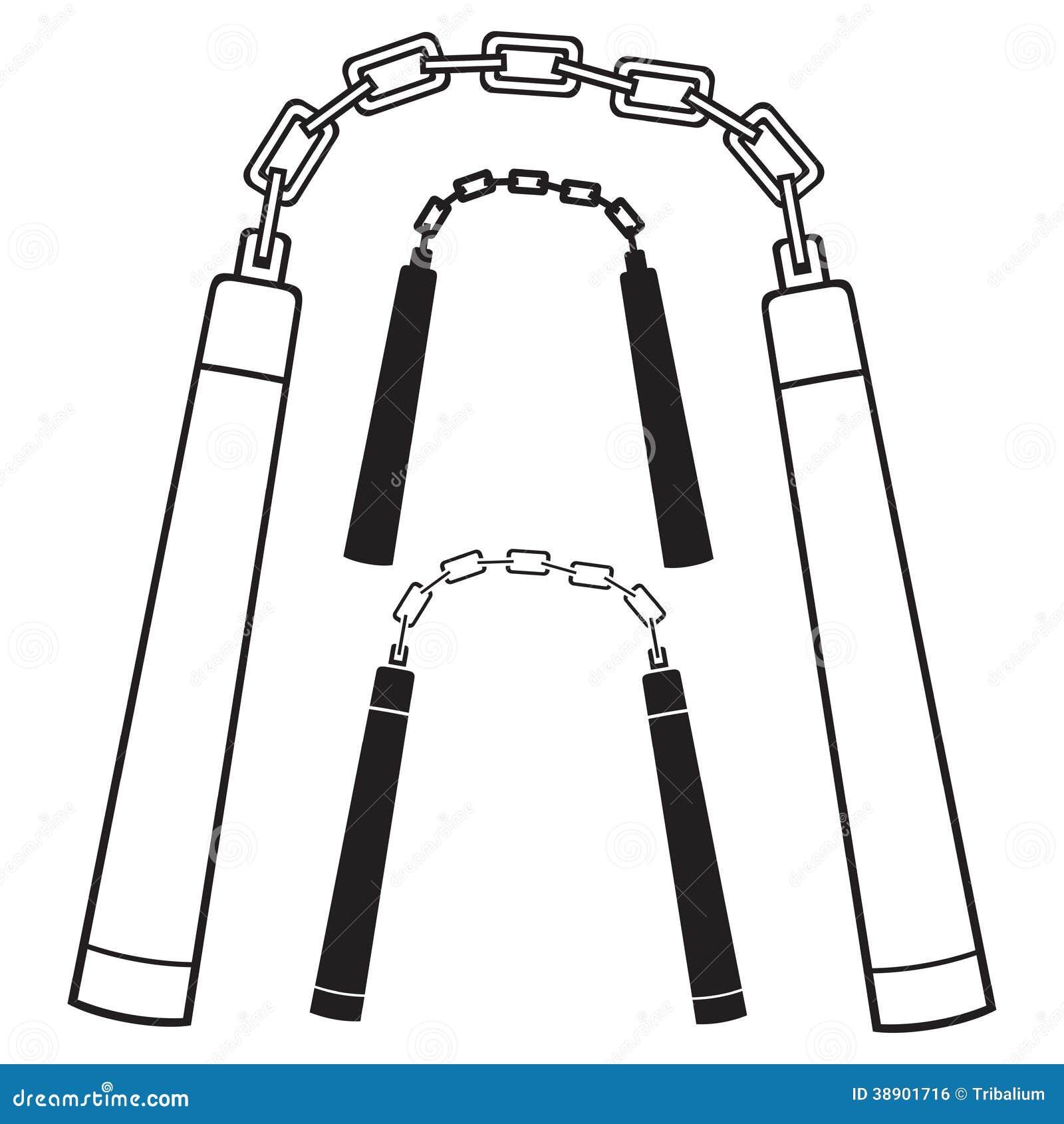 Nunchaku Weapon Stock Vector - Image: 38901716