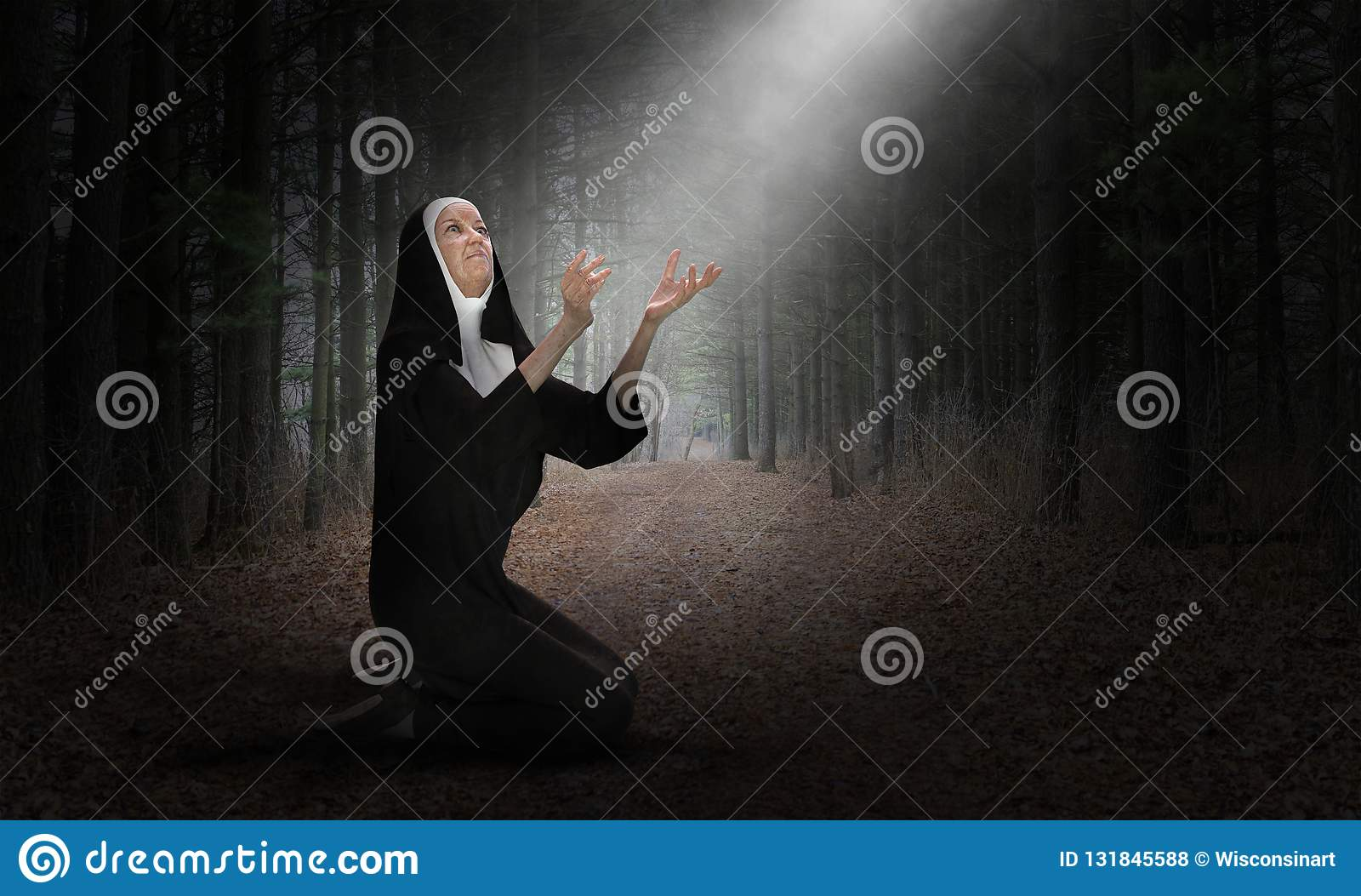 Nunnan ber, bönen, kristen, religionen, kristendomen, klosterbroder