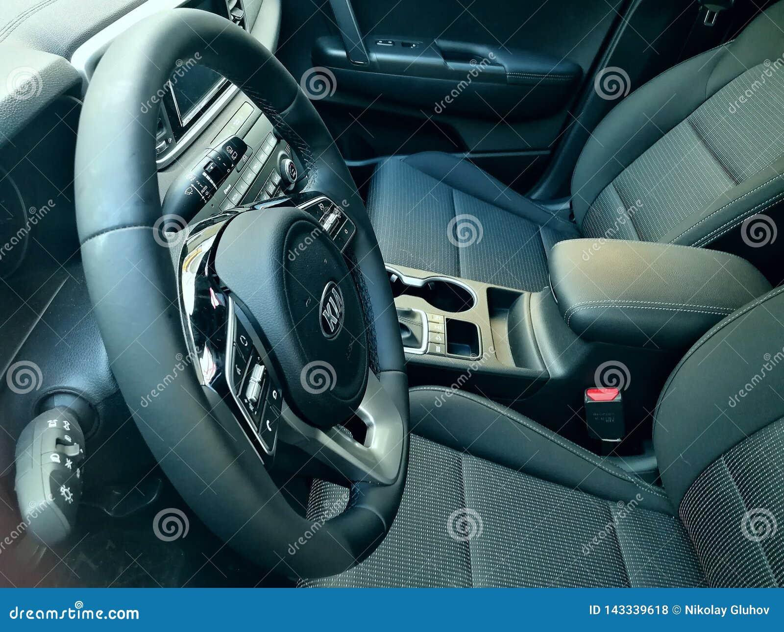 Nuova automobile interna di Kia Sportage