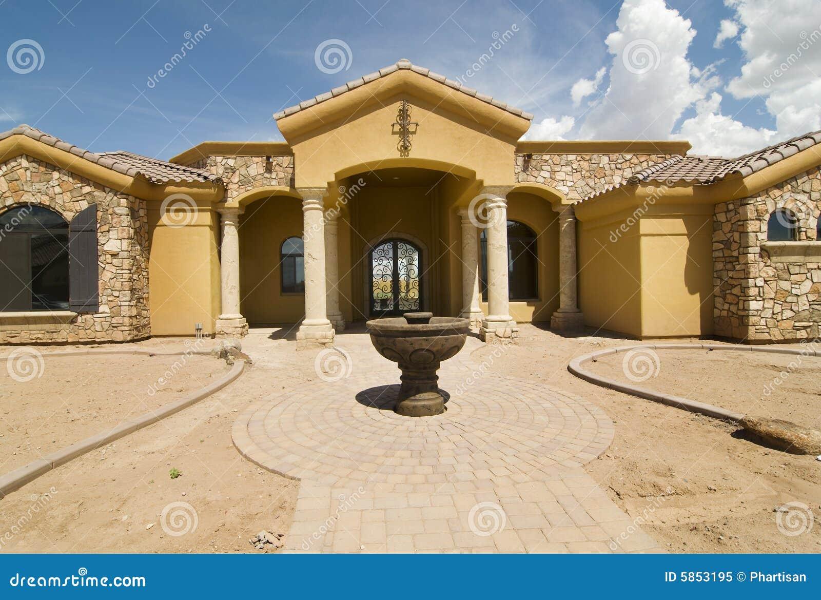 Nuova casa all estremità di costruzione