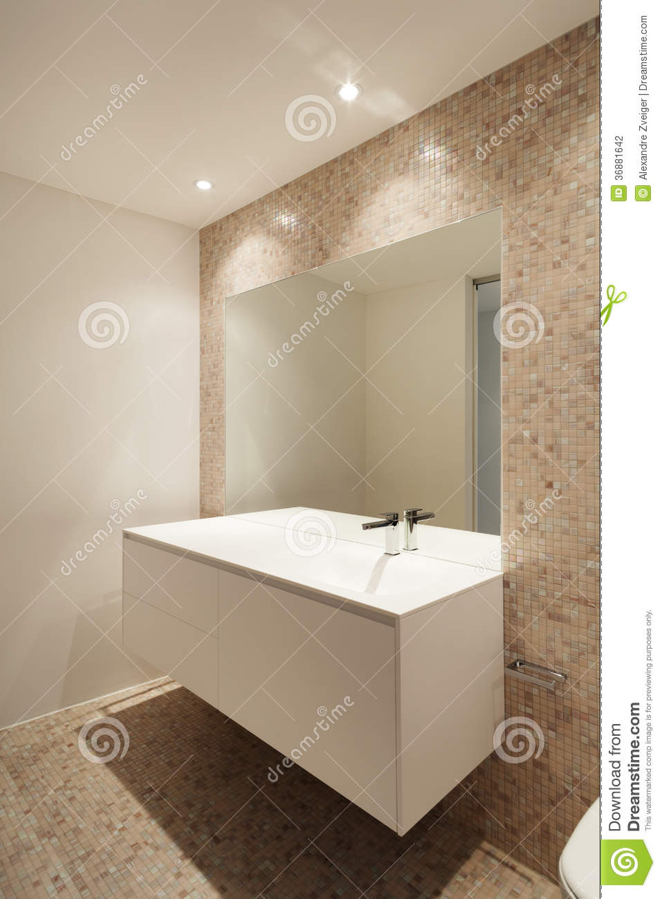 Download Nuova casa interna, bagno fotografia stock. Immagine di bathroom - 36881642