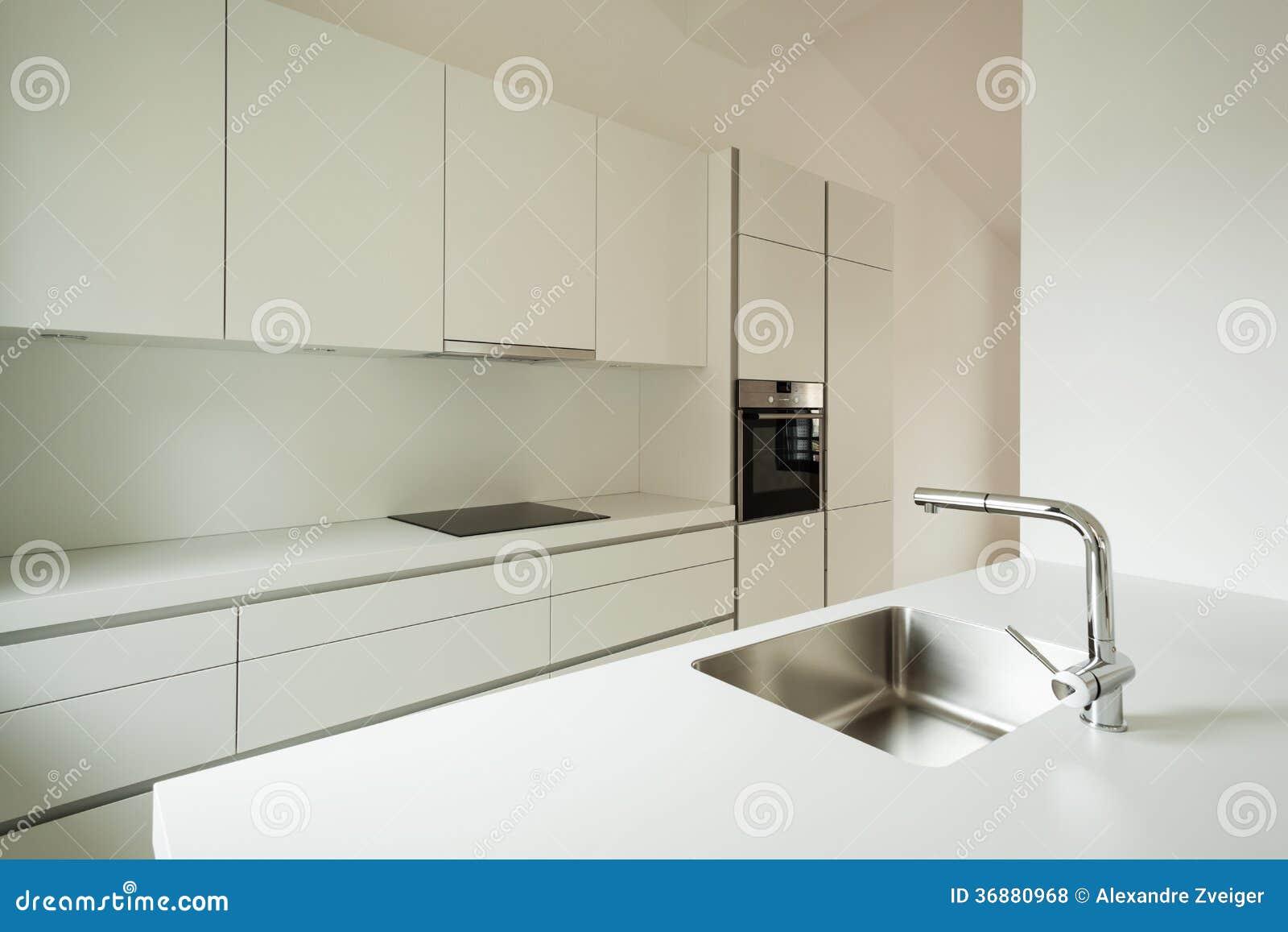 Download Nuova casa interna, cucina fotografia stock. Immagine di prospettiva - 36880968