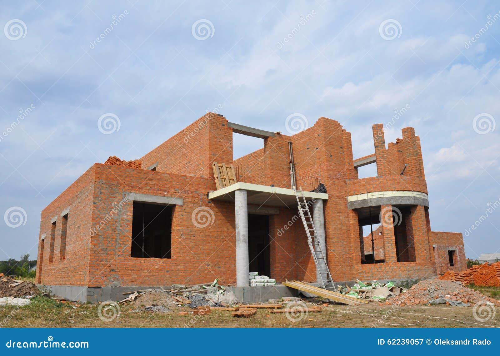 Colori Per Esterni Casa Nuova Costruzione : Nuova costruzione della casa con mattoni a vista della costruzione