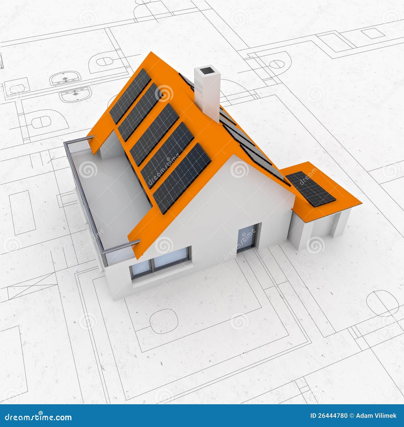 Nuova disposizione sostenibile moderna isolata di for Programma di disegno della casa libera