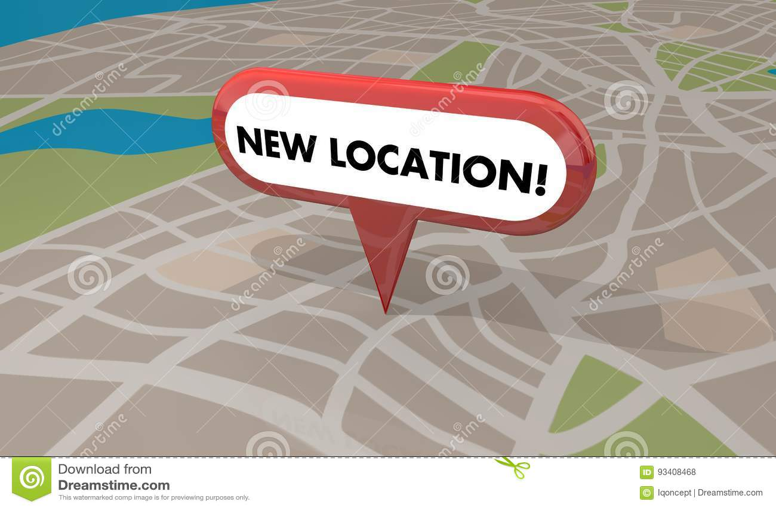 Nuova grande apertura Pin Map 3d Illustratio di affari del deposito di posizione