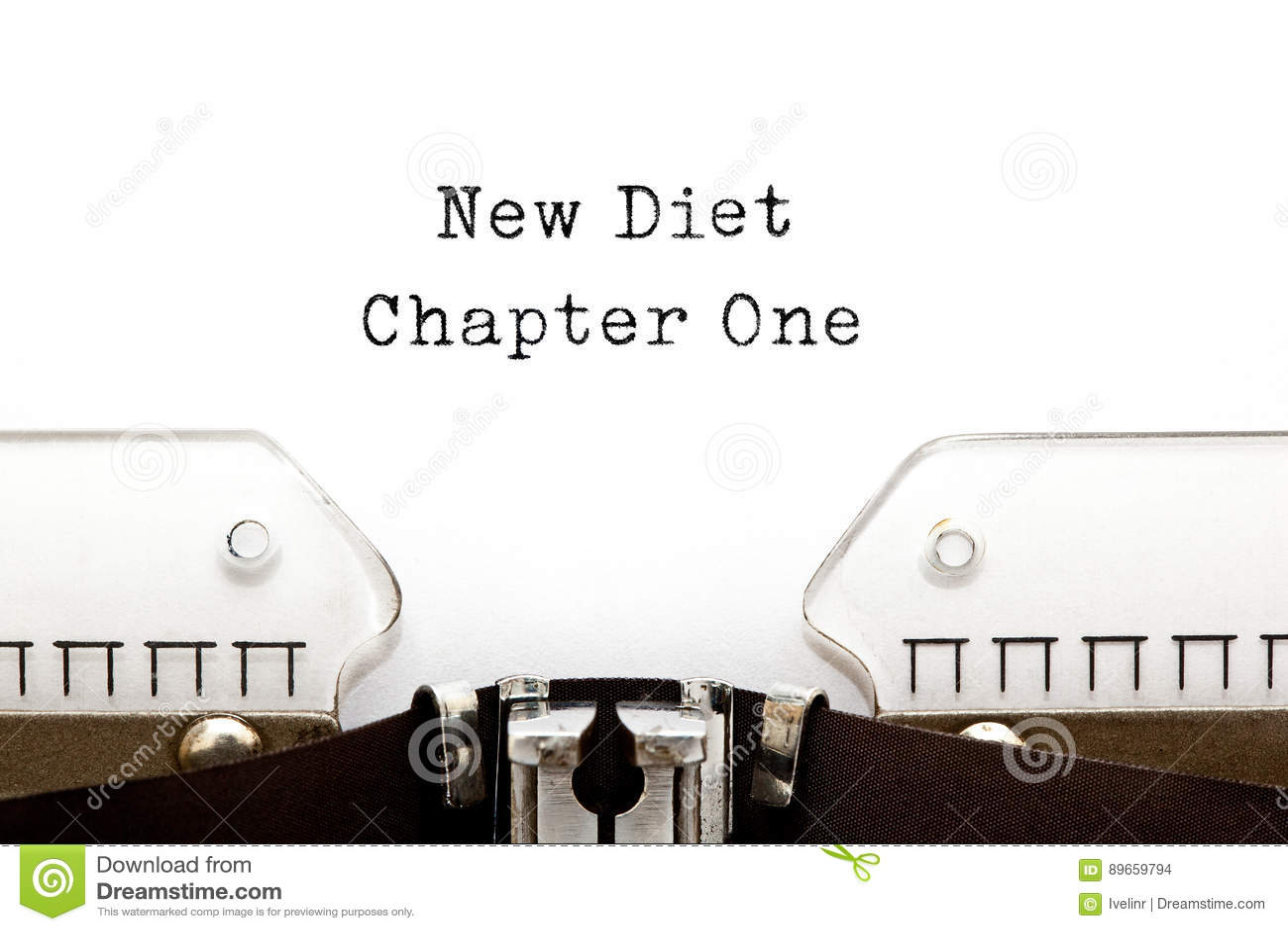 Nuova macchina da scrivere di capitolo uno di dieta