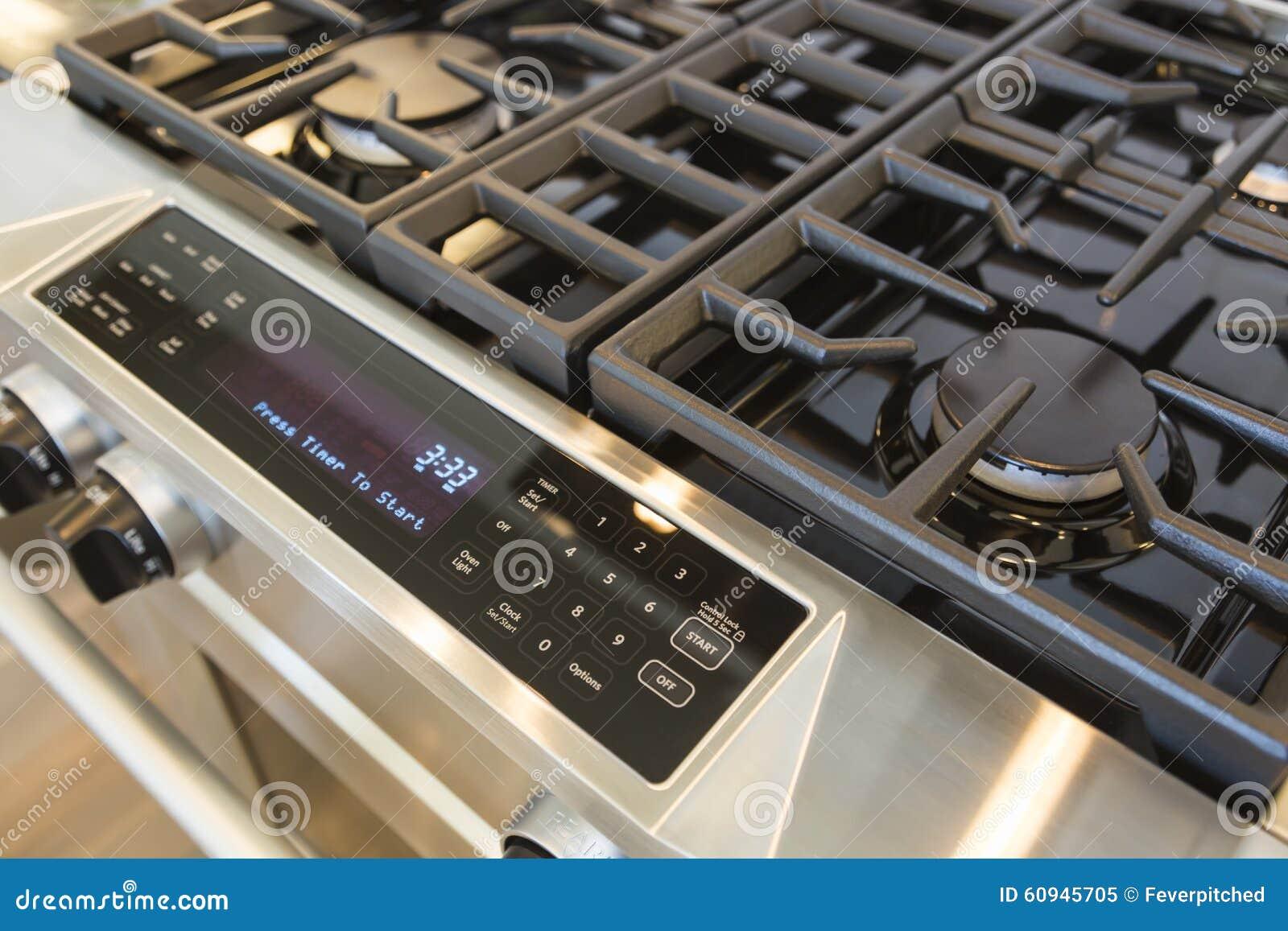 Cucina Moderna Digitale.Nuova Stufa Naturale Moderna Della Cucina A Gas Immagine