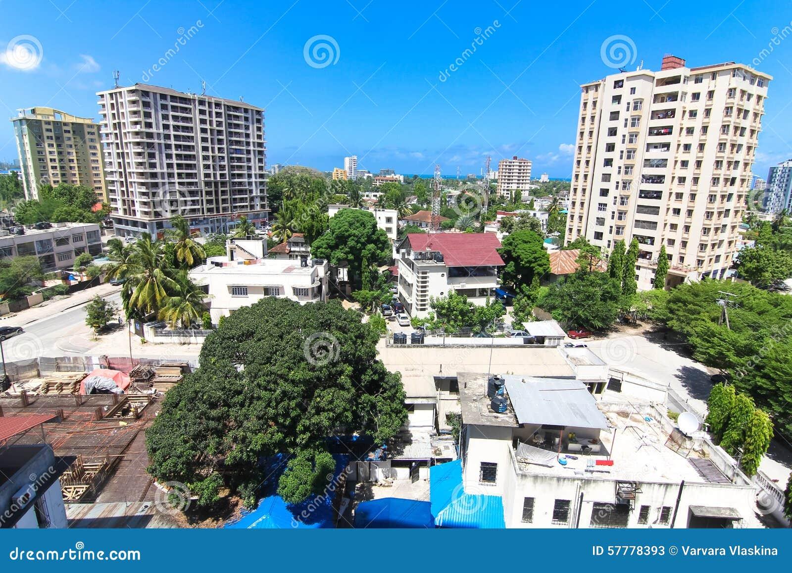 Nuove costruzioni moderne a Dar es Salaam, Africa Vista panoramica