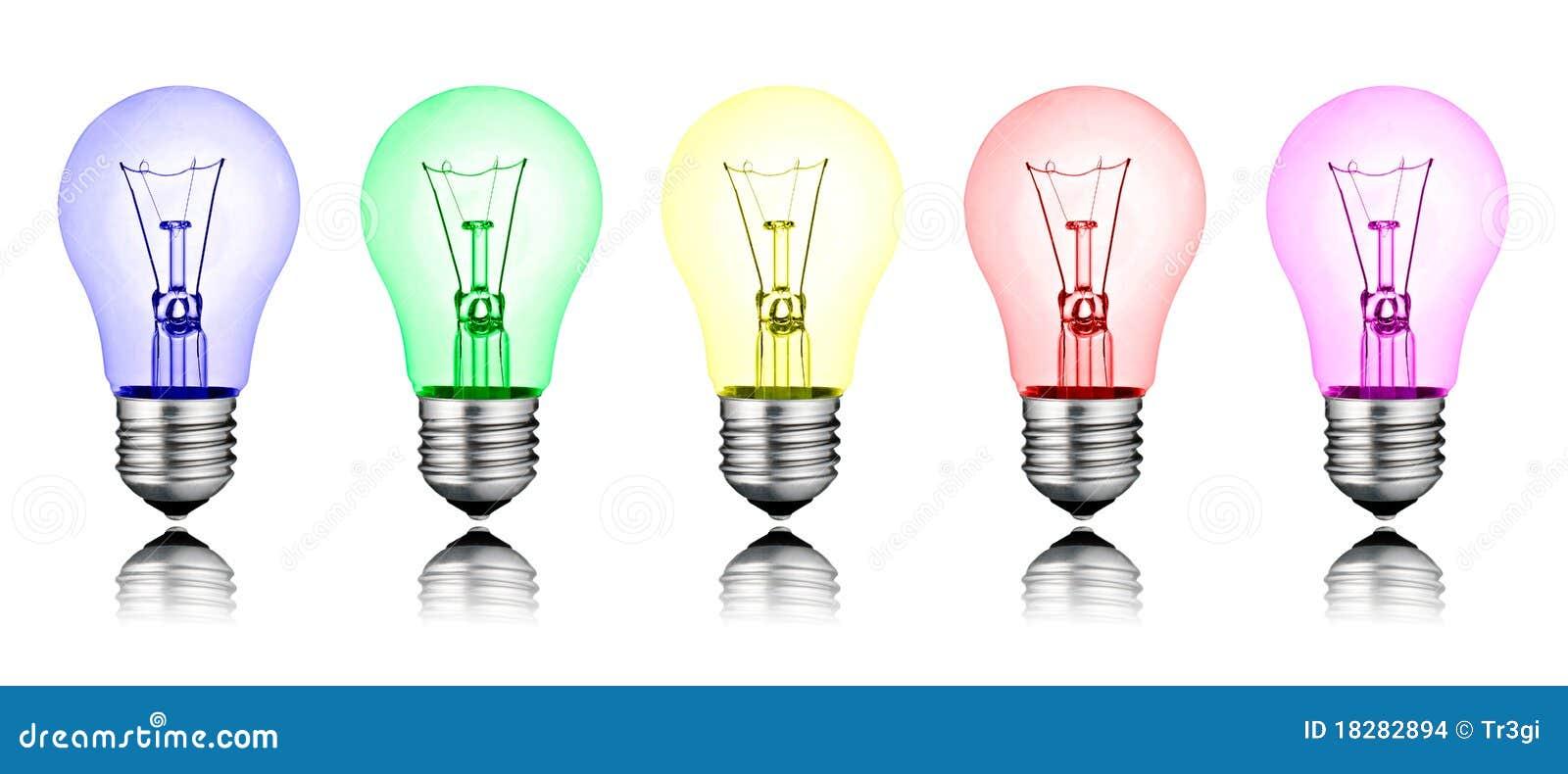 Nuove idee differenti riga delle lampadine colorate for Vendita lampadine