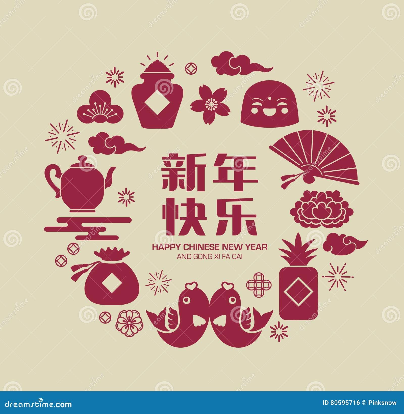 Nuovo anno cinese felice