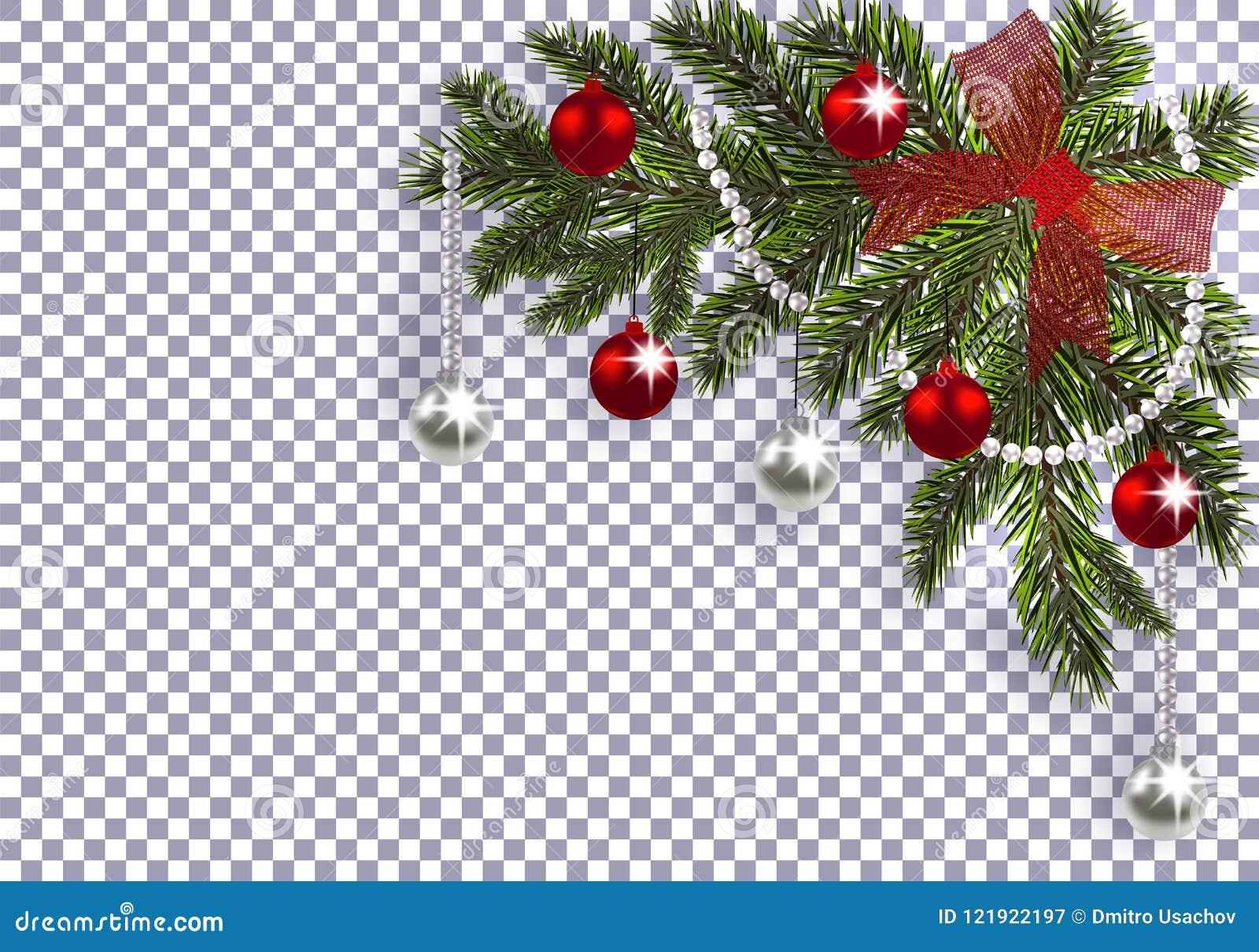 Nuovo Anno Natale Un Ramo Verde Di Un Albero Di Natale Con I