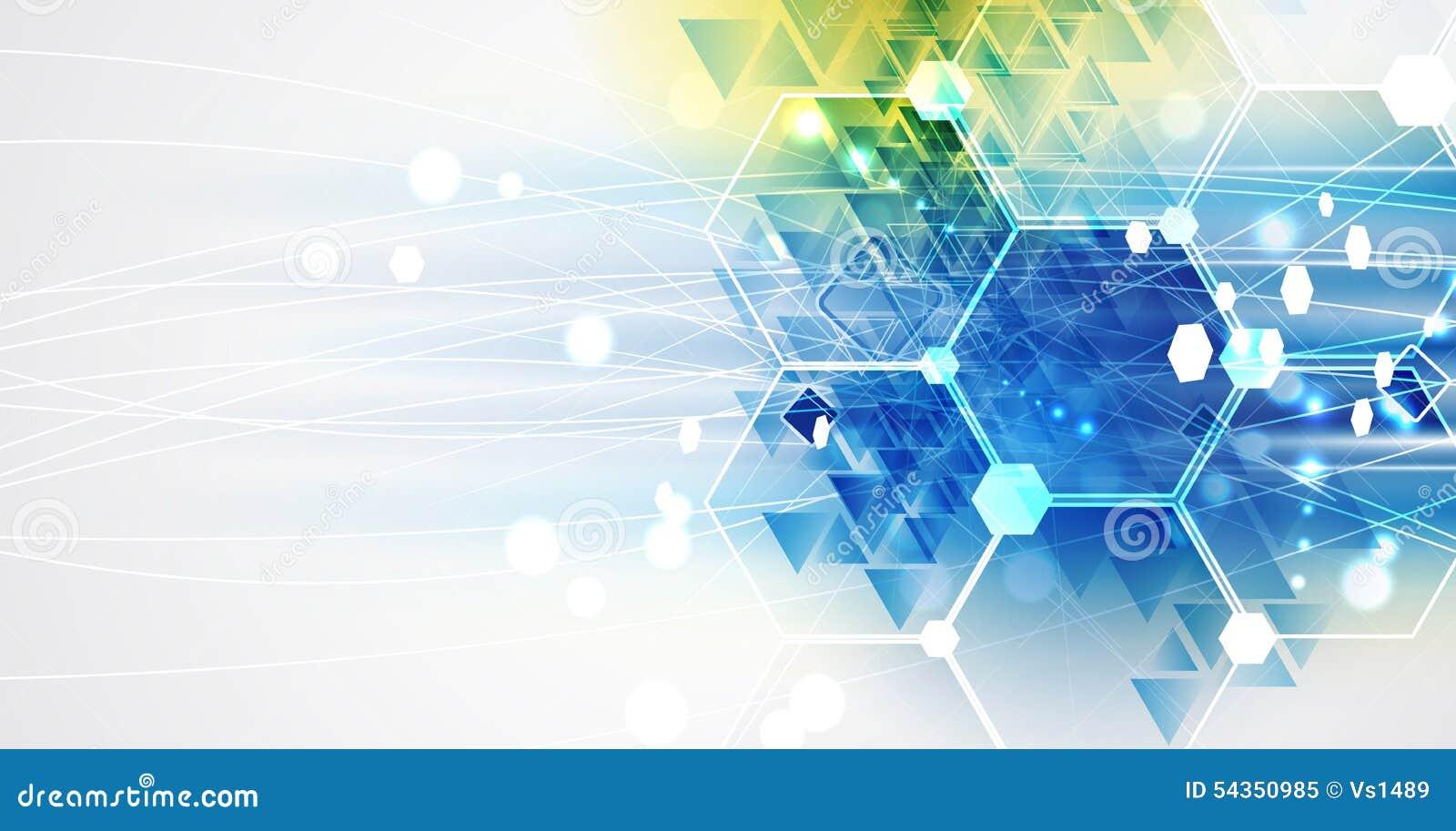 Nuovo fondo futuro dell estratto di concetto di tecnologia
