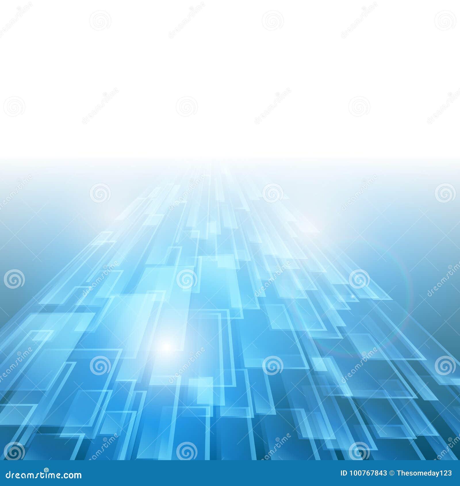 Nuovo fondo futuro di concetto di tecnologia blu astratta