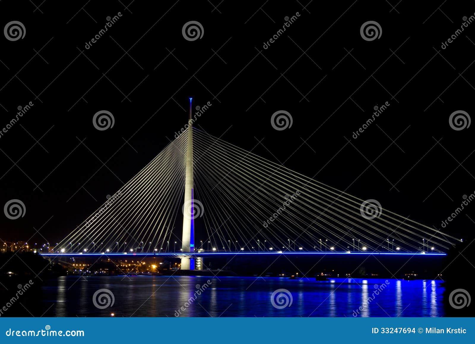 Nuovo ponte di belgrado immagini stock immagine 33247694 for Disegni di ponte anteriore
