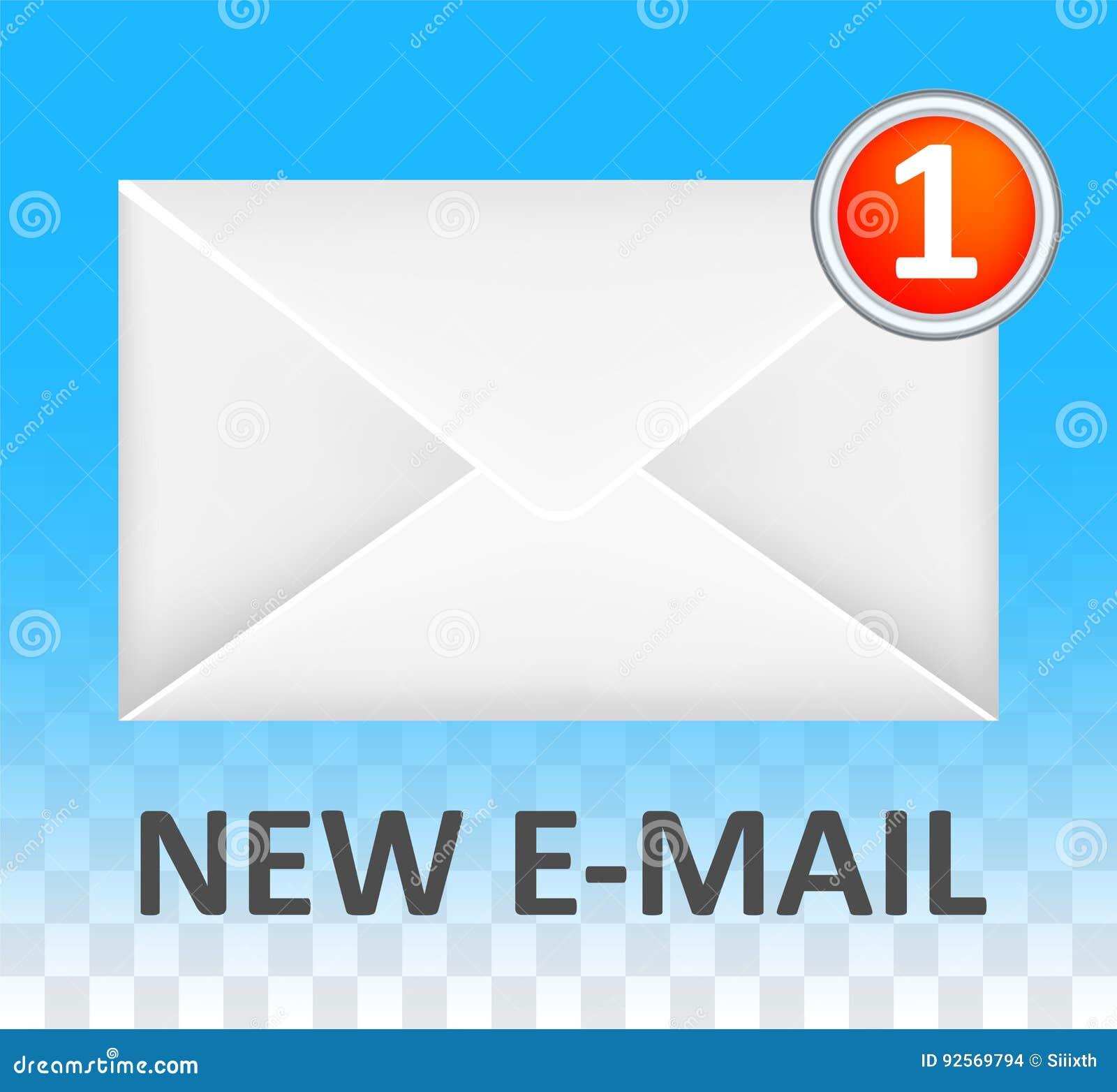 Nuovo vettore chiuso bianco di logo della busta del email