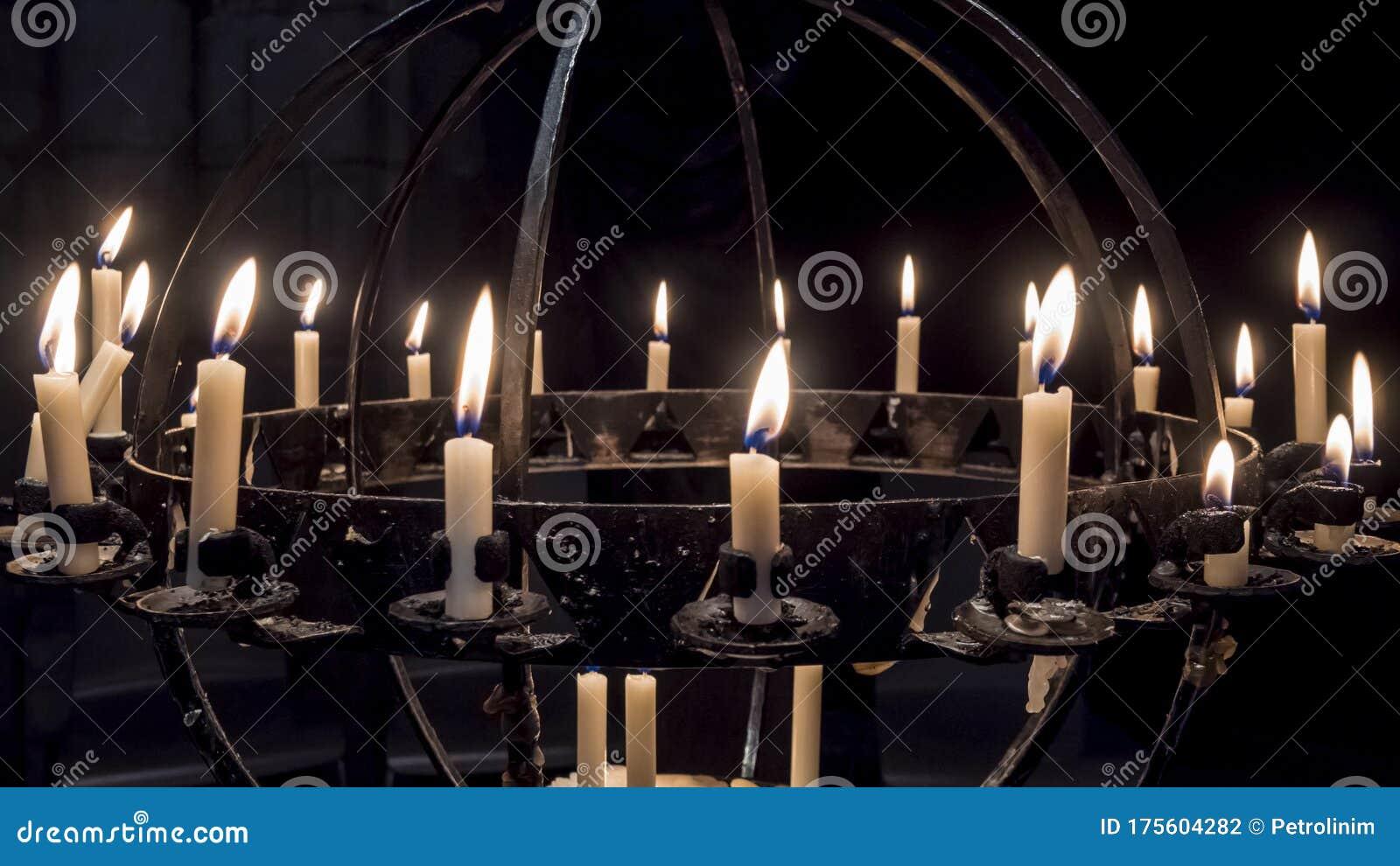 Wrought Iron Candle Holder Inside The Frauenkirche Nuremberg Stock Photo Image Of Bavaria Castle 175604282