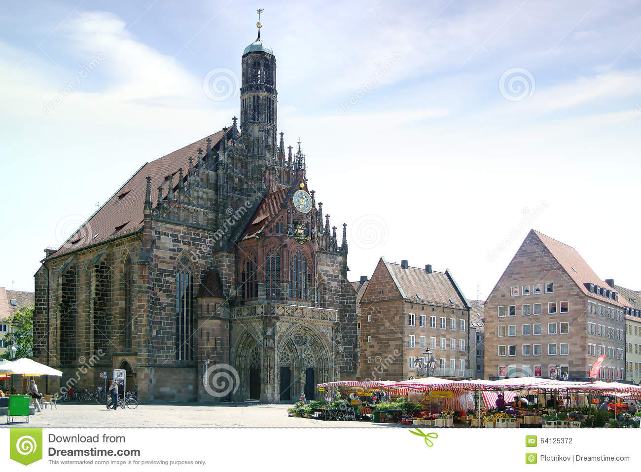 frauenkirche cathedral in dresden royalty free stock image 58490554. Black Bedroom Furniture Sets. Home Design Ideas