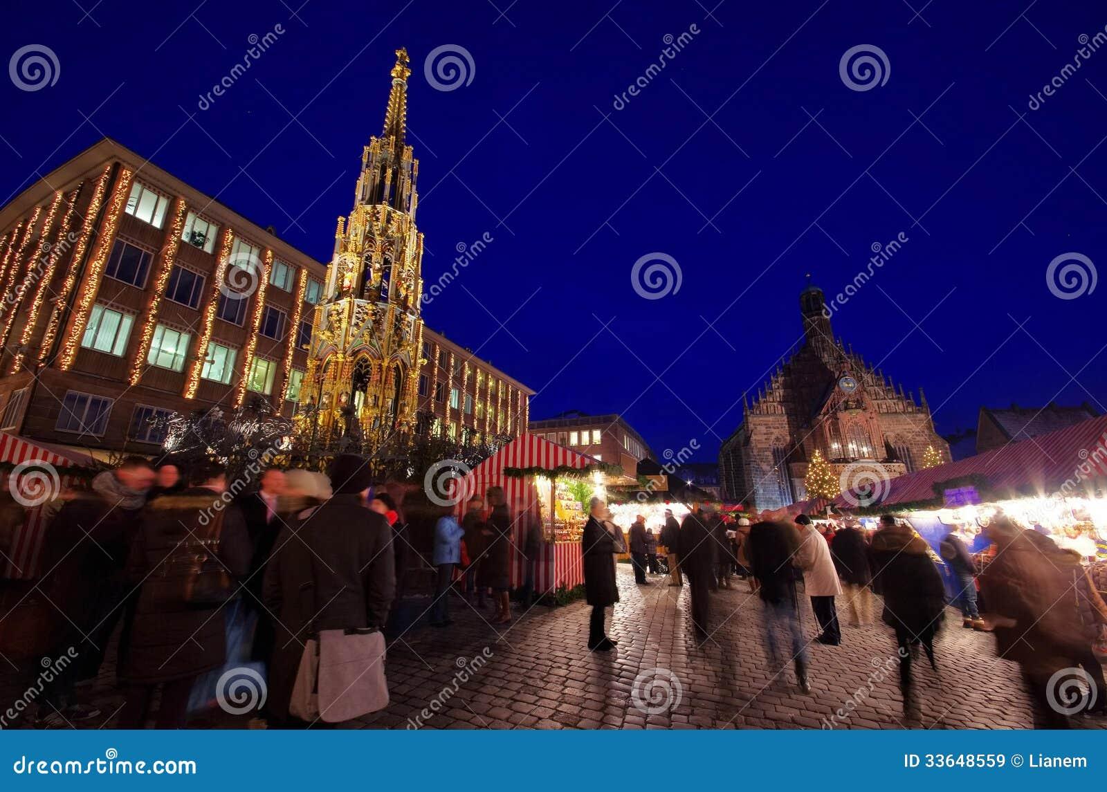 Nuremberg christmas market stock image. Image of town - 33648559
