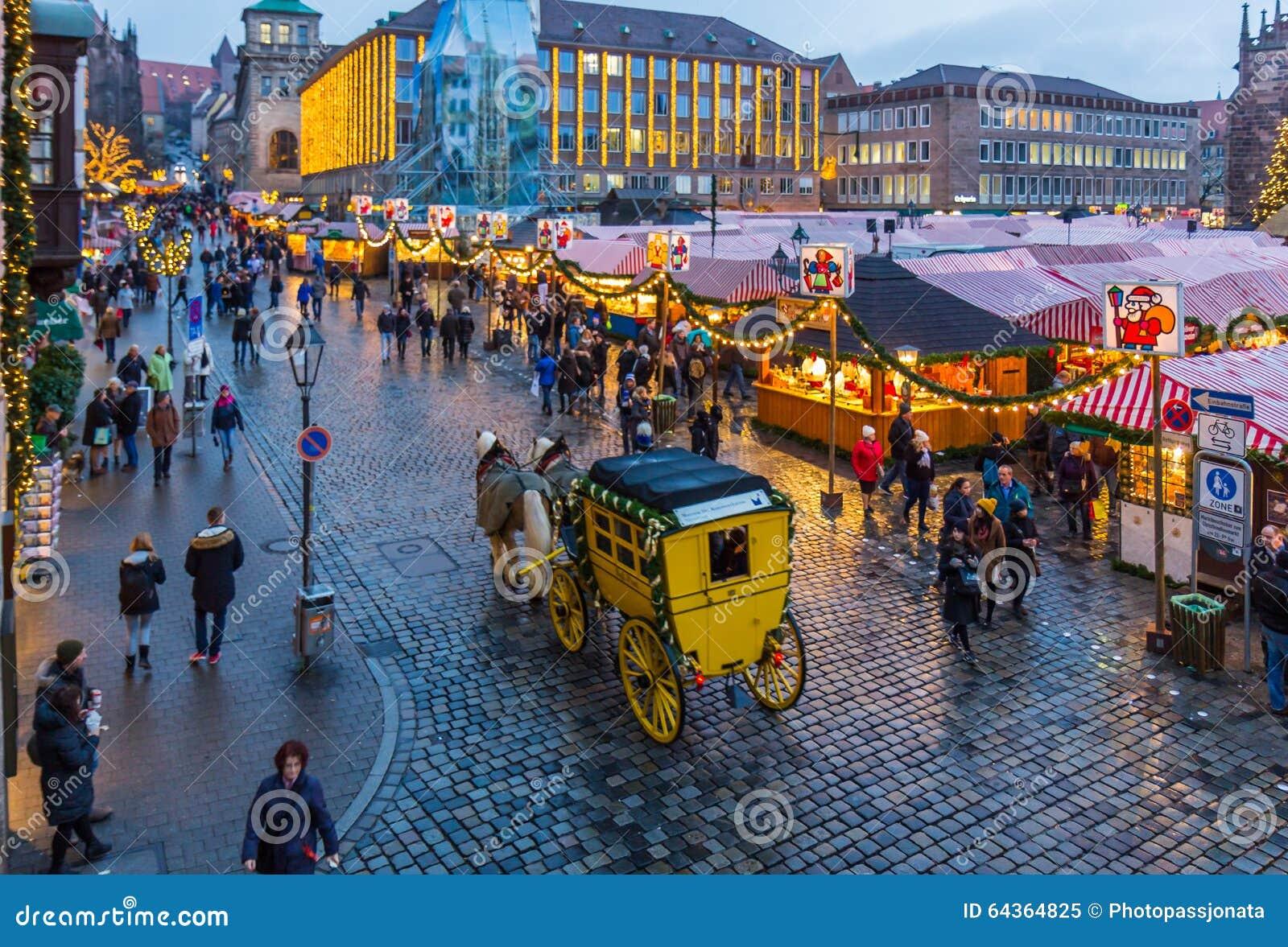 Nuremberg, Germany-Christmas time- Main Market Square