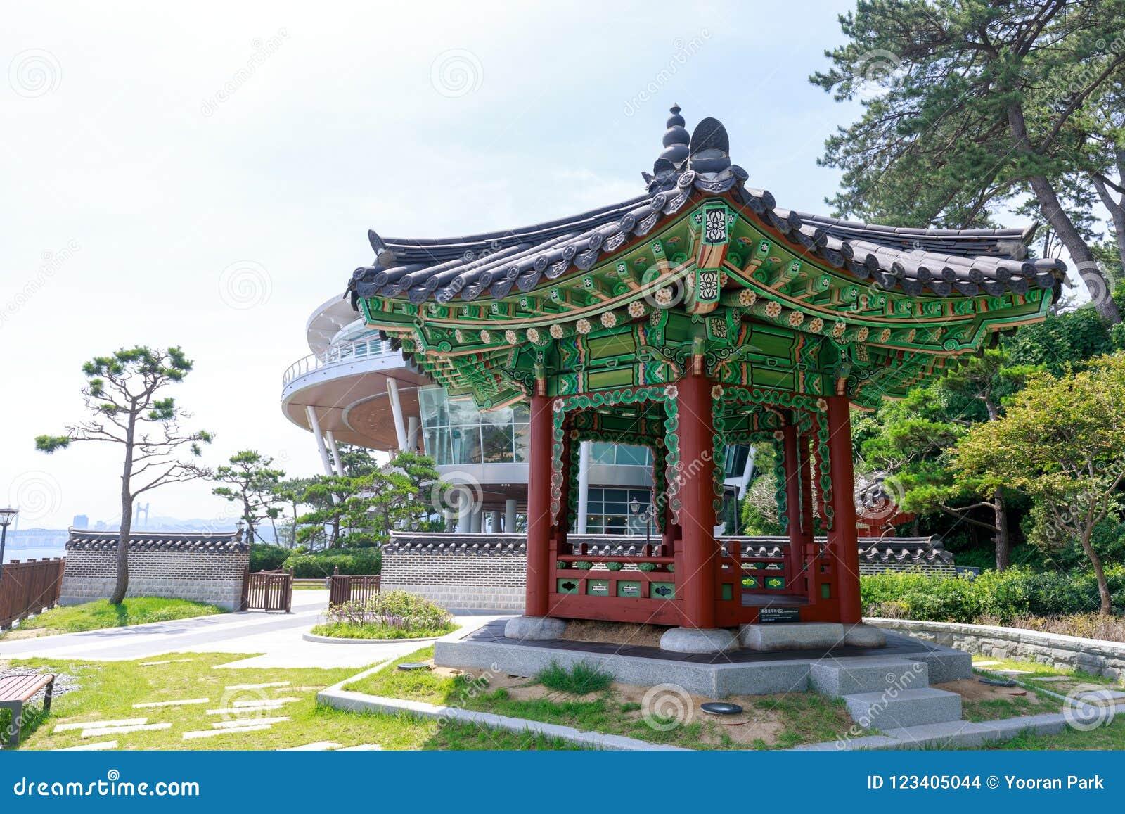 Nurimaru APEC-Haus finden auf Insel Haeundae Dongbaekseom in Busan, Südkorea