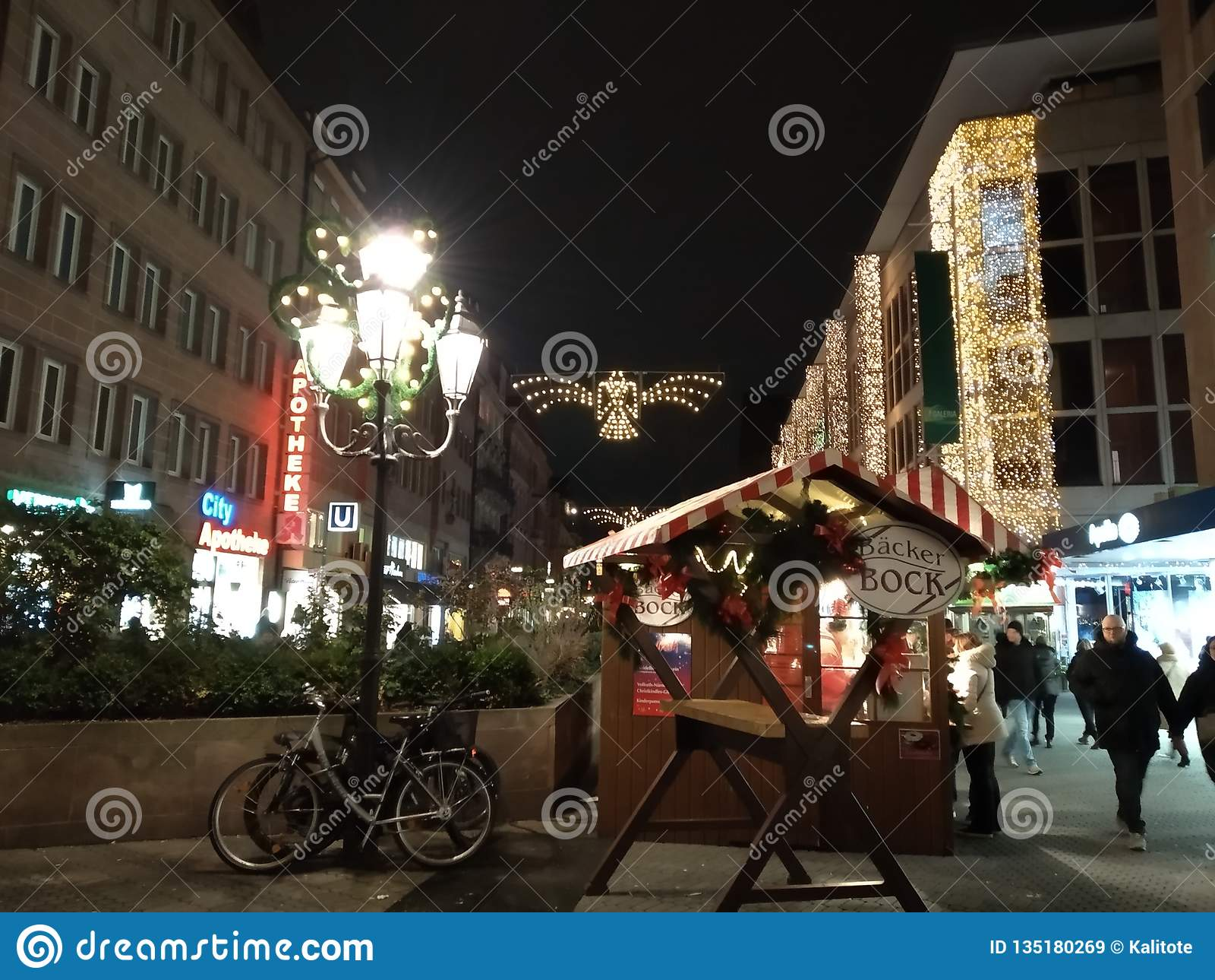 Nurnberg at Christmas, Germany.